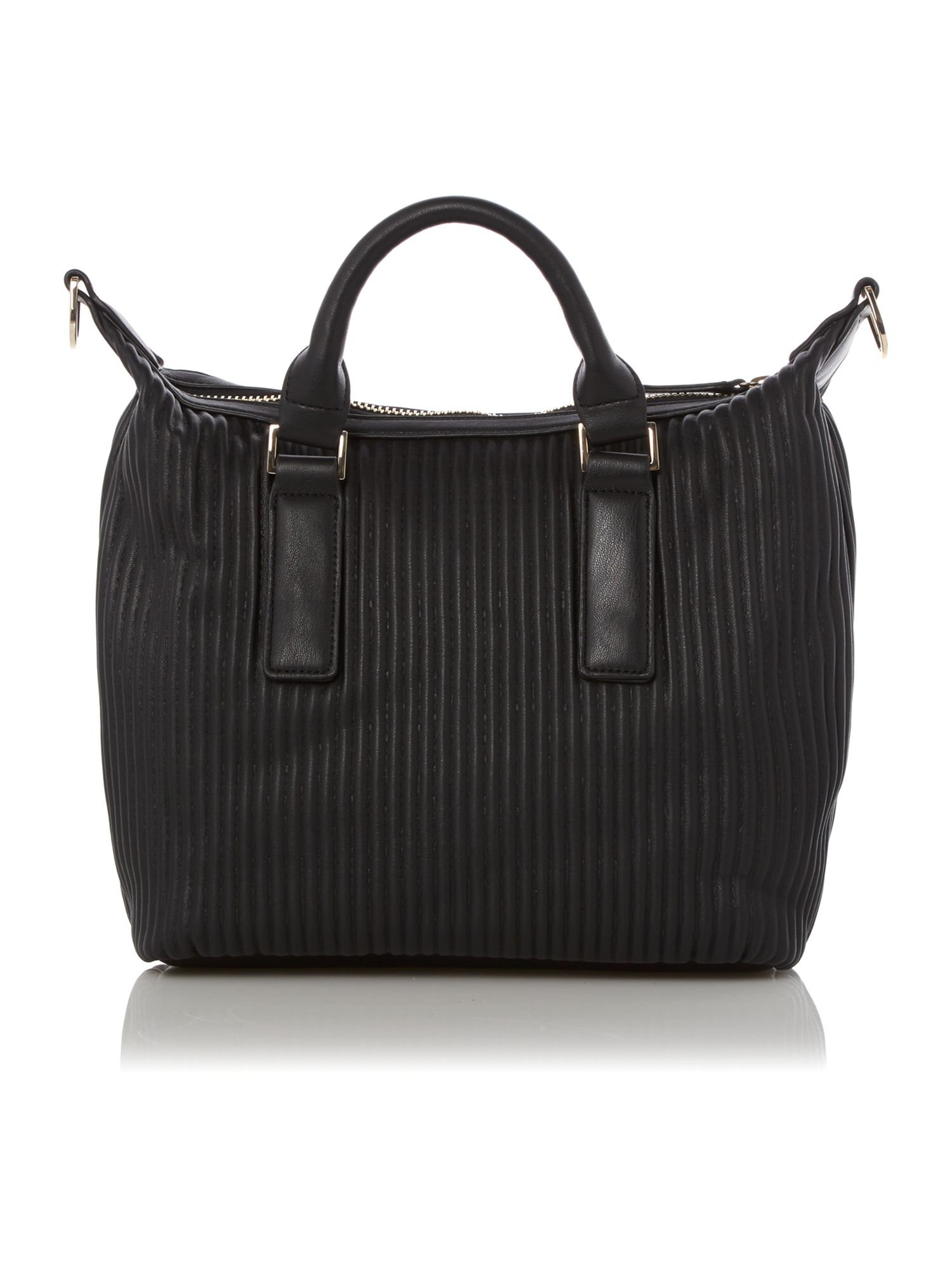 Black segreto tote bag