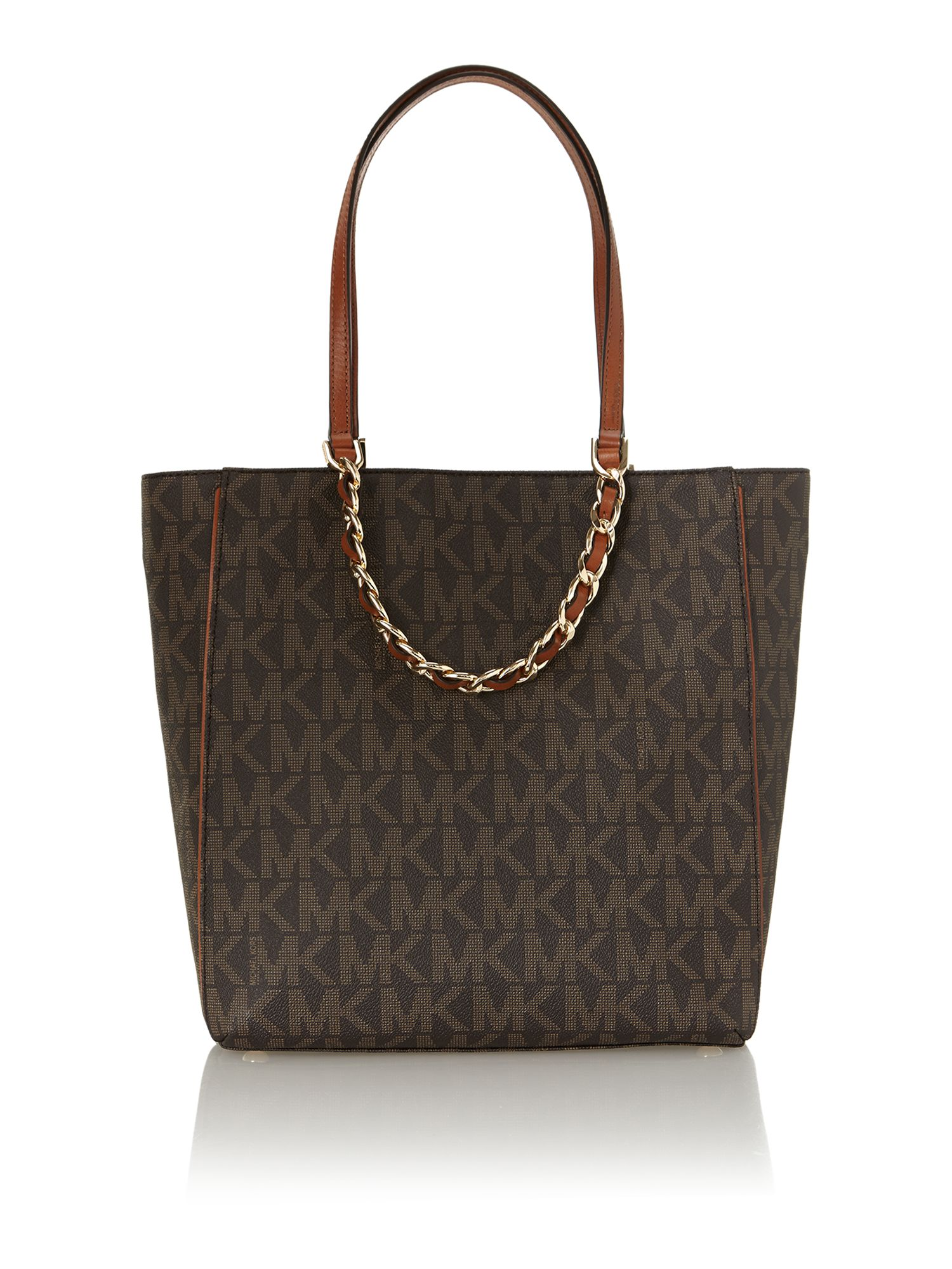 Harper brown logo tote bag