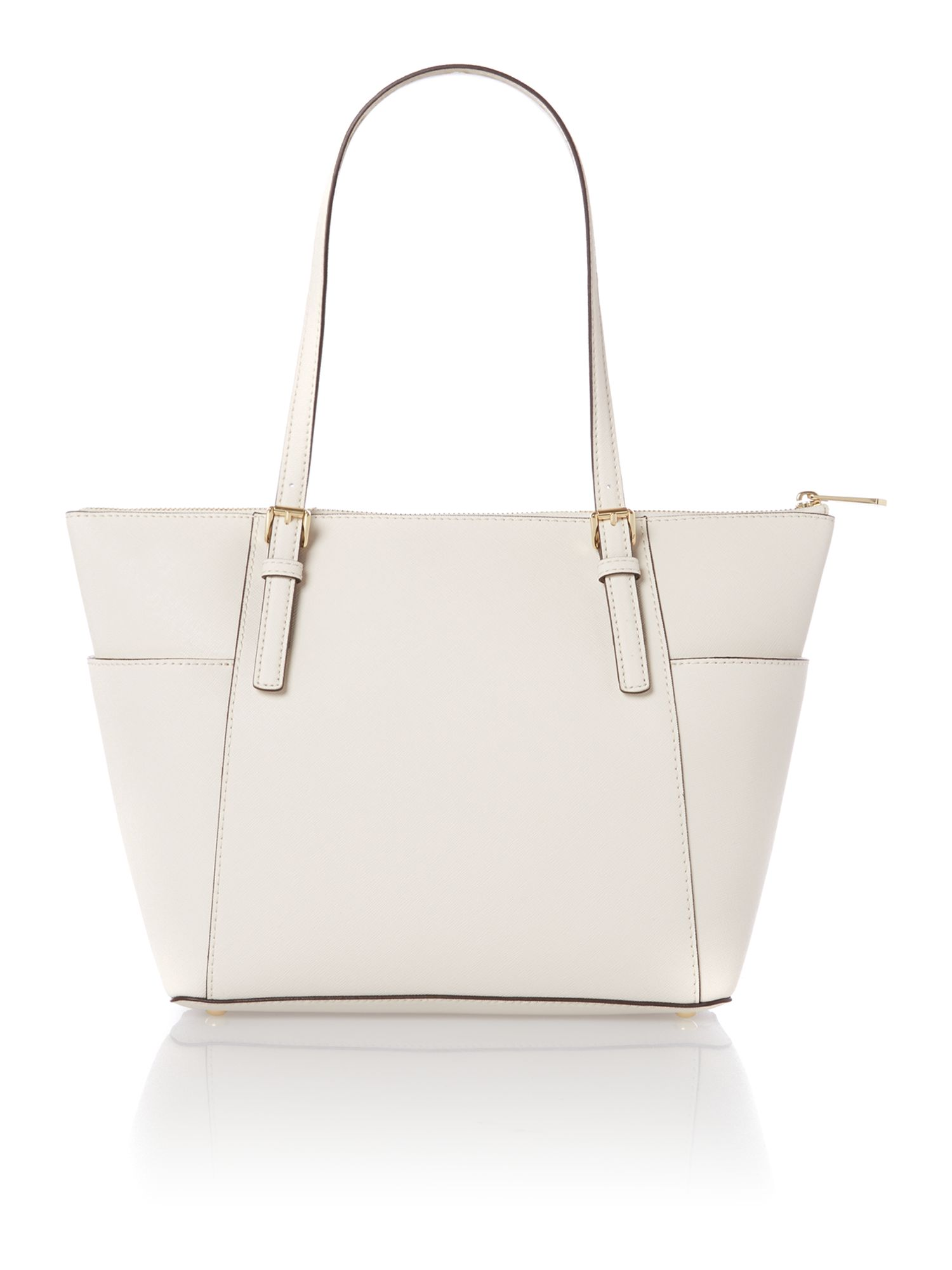 Jet set travel natural zip top tote bag