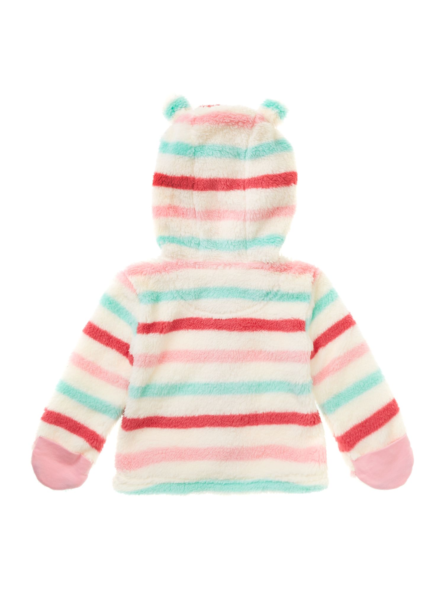 Girl`s striped fleece