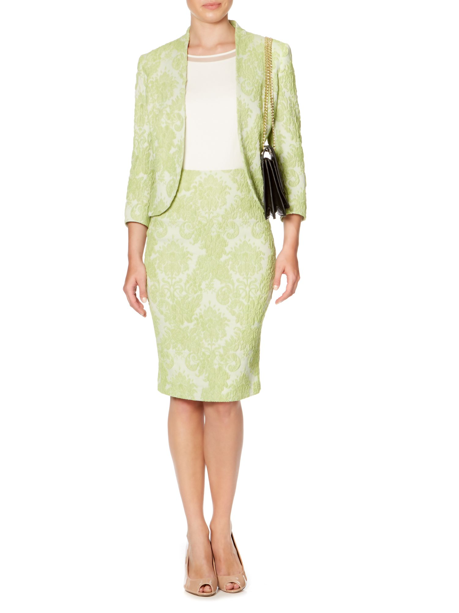 Grace lace jacquard jacket
