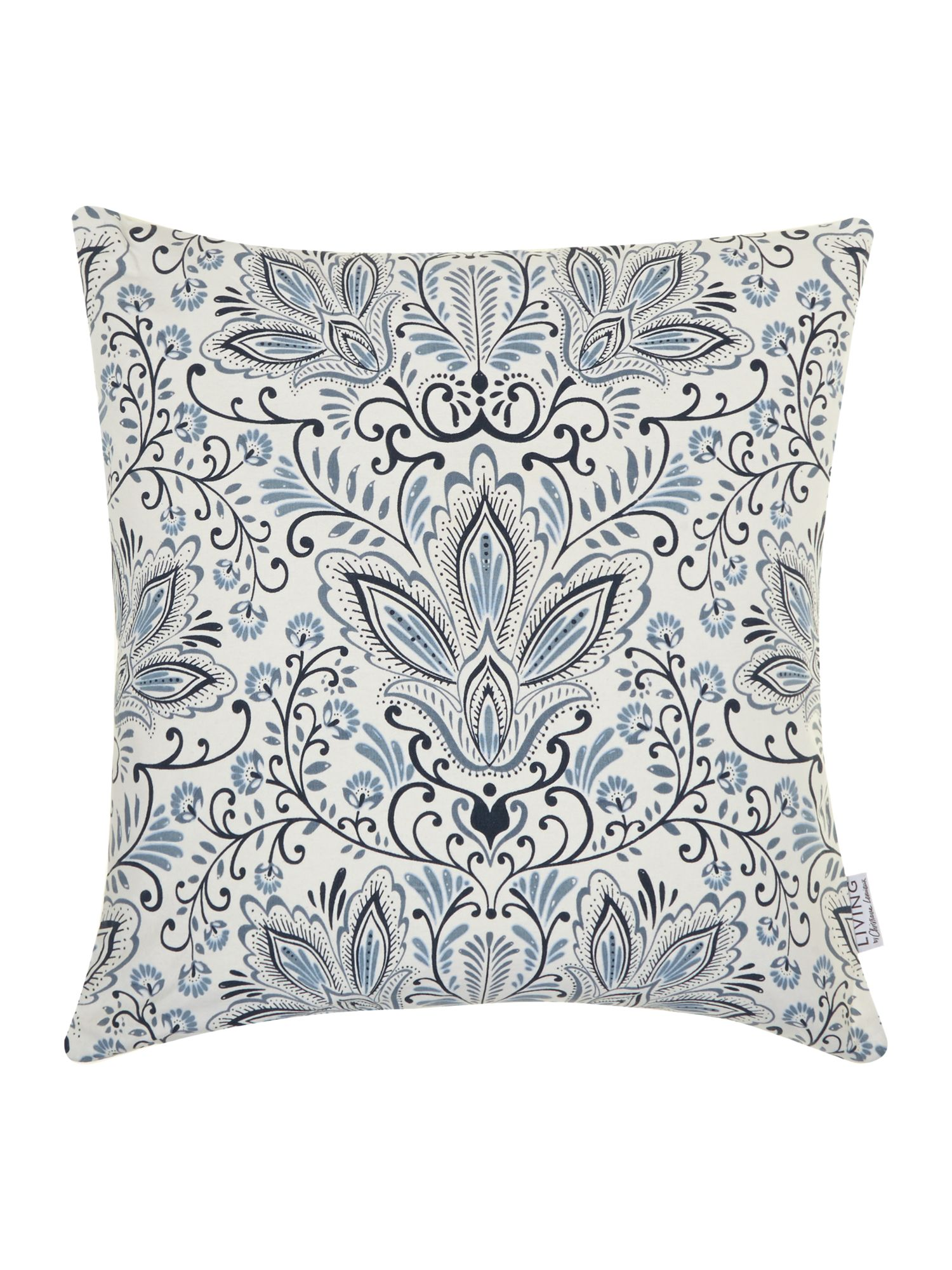 Blue print cushion