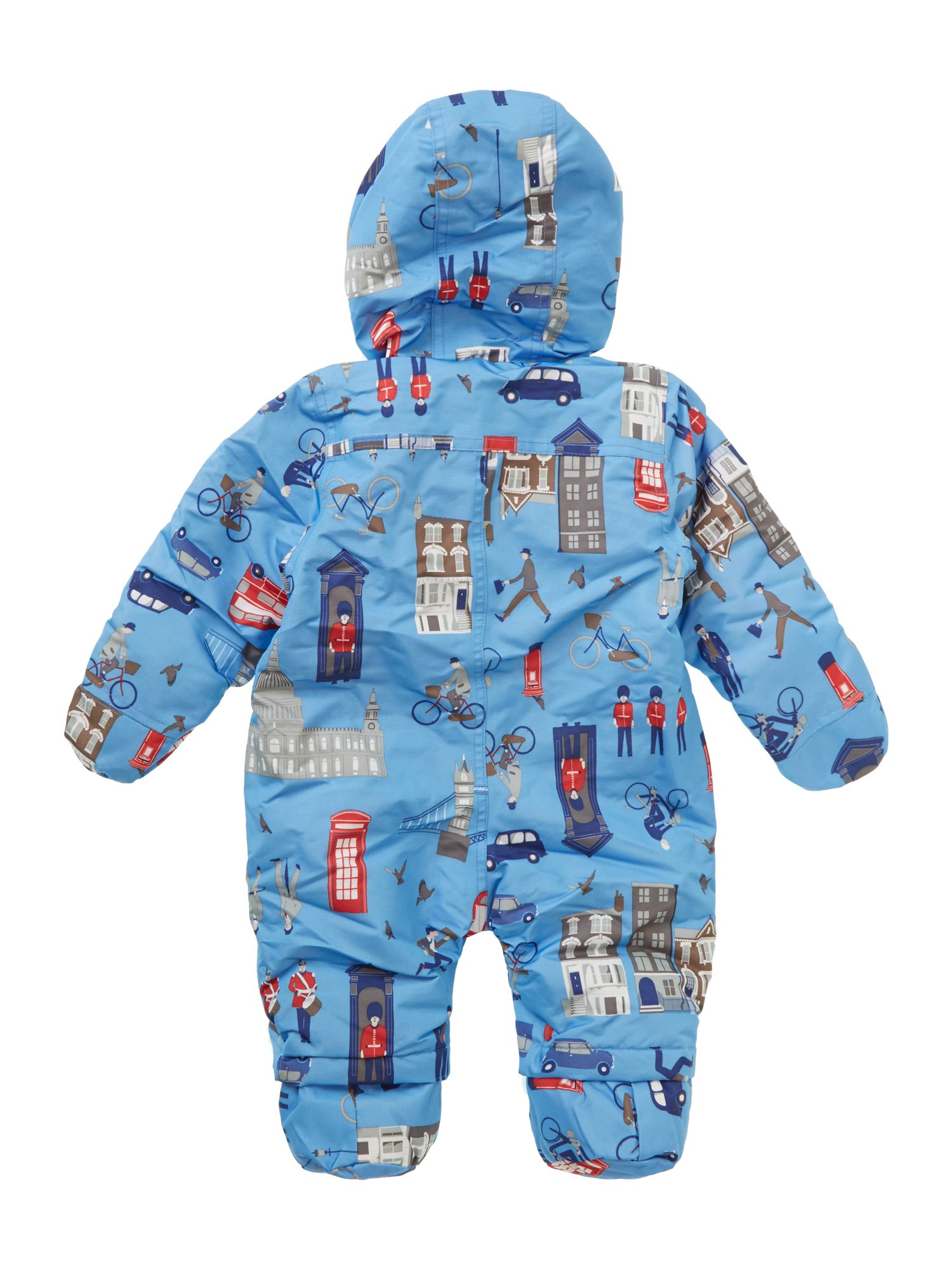 Boy`s london print snowsuit