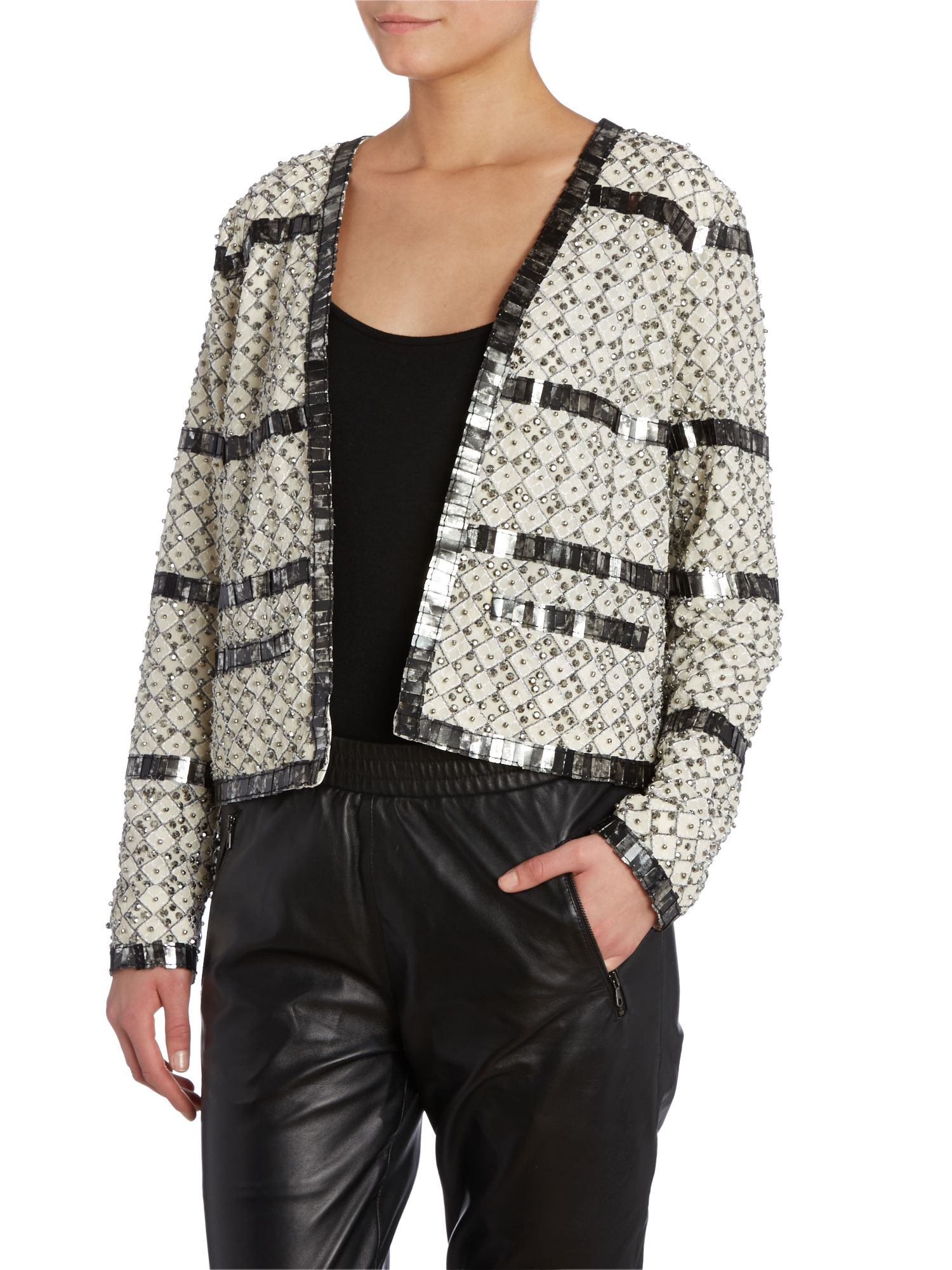 Embellished trophy jacket