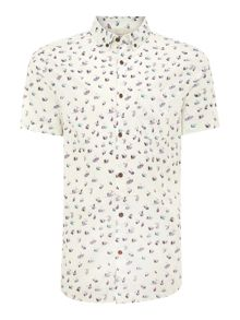 sawyer fly print short sleeve shirt