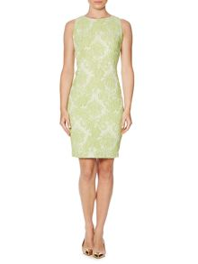 Grace lace jacquard shift dress