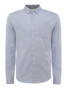 logan plain chambray long sleeve shirt