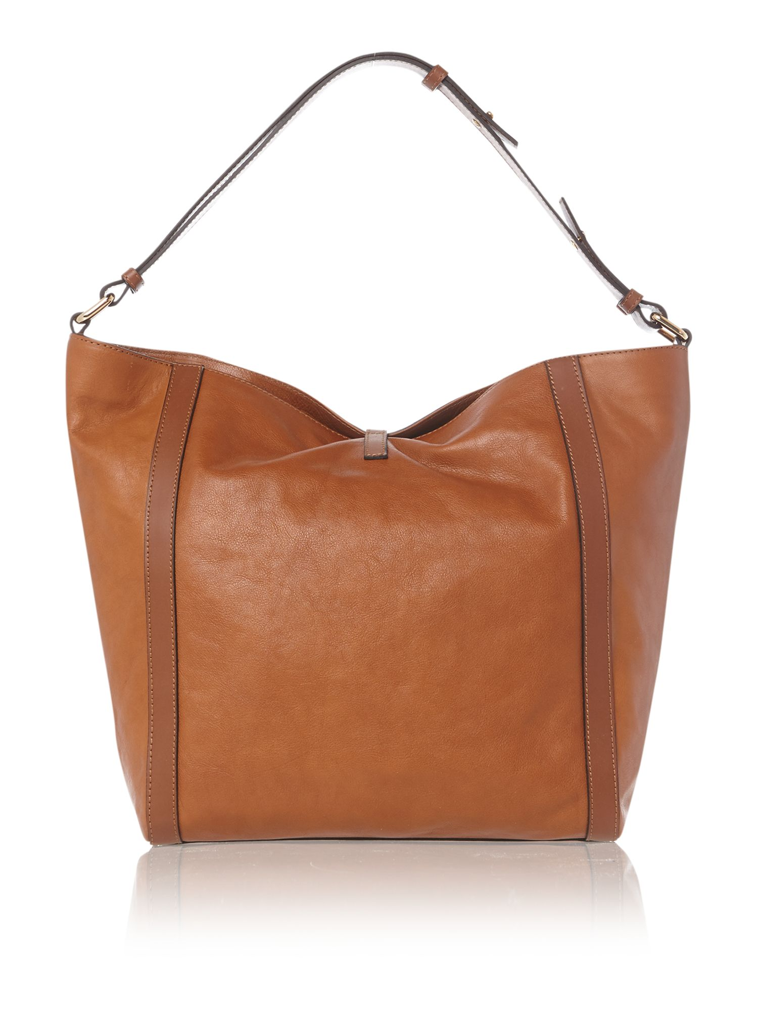 Brown hobo bag