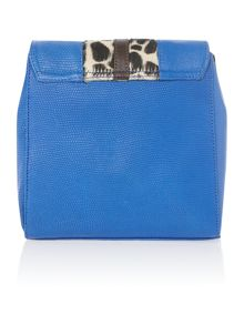 Blue print cross body bag