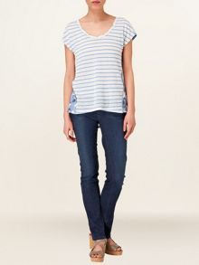 Veronica stripe print top