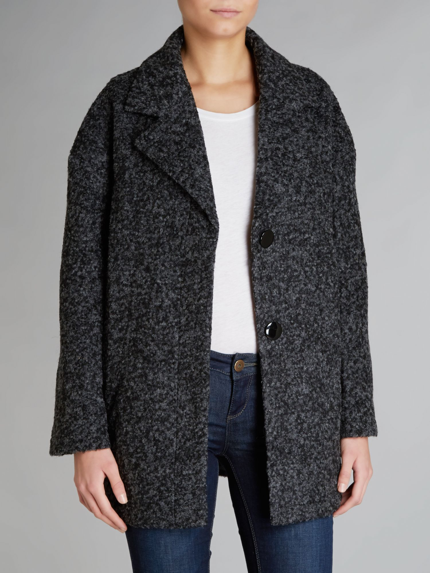 Mohair look boyfriend coat