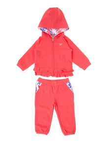 Girl`s logo tracksuit set