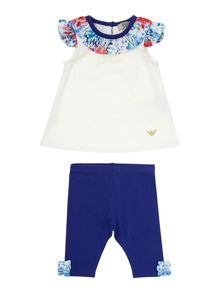 Girl`s frill neck 2 piece set