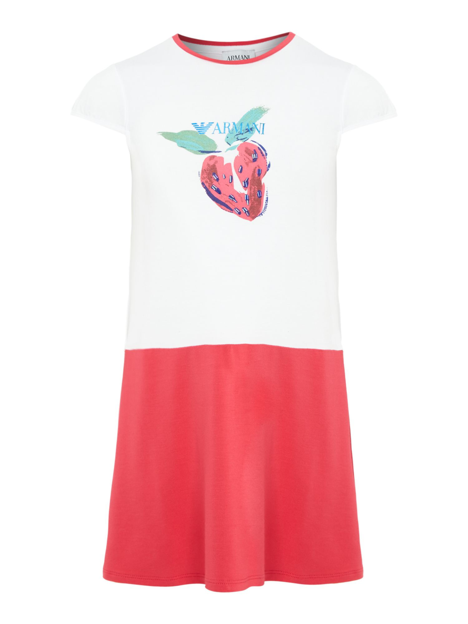 Girl`s strawberry print dress