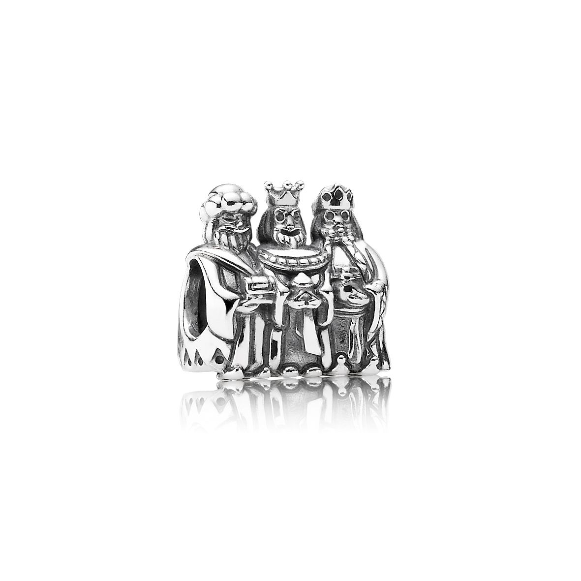 14ct gold three wise men silver charm