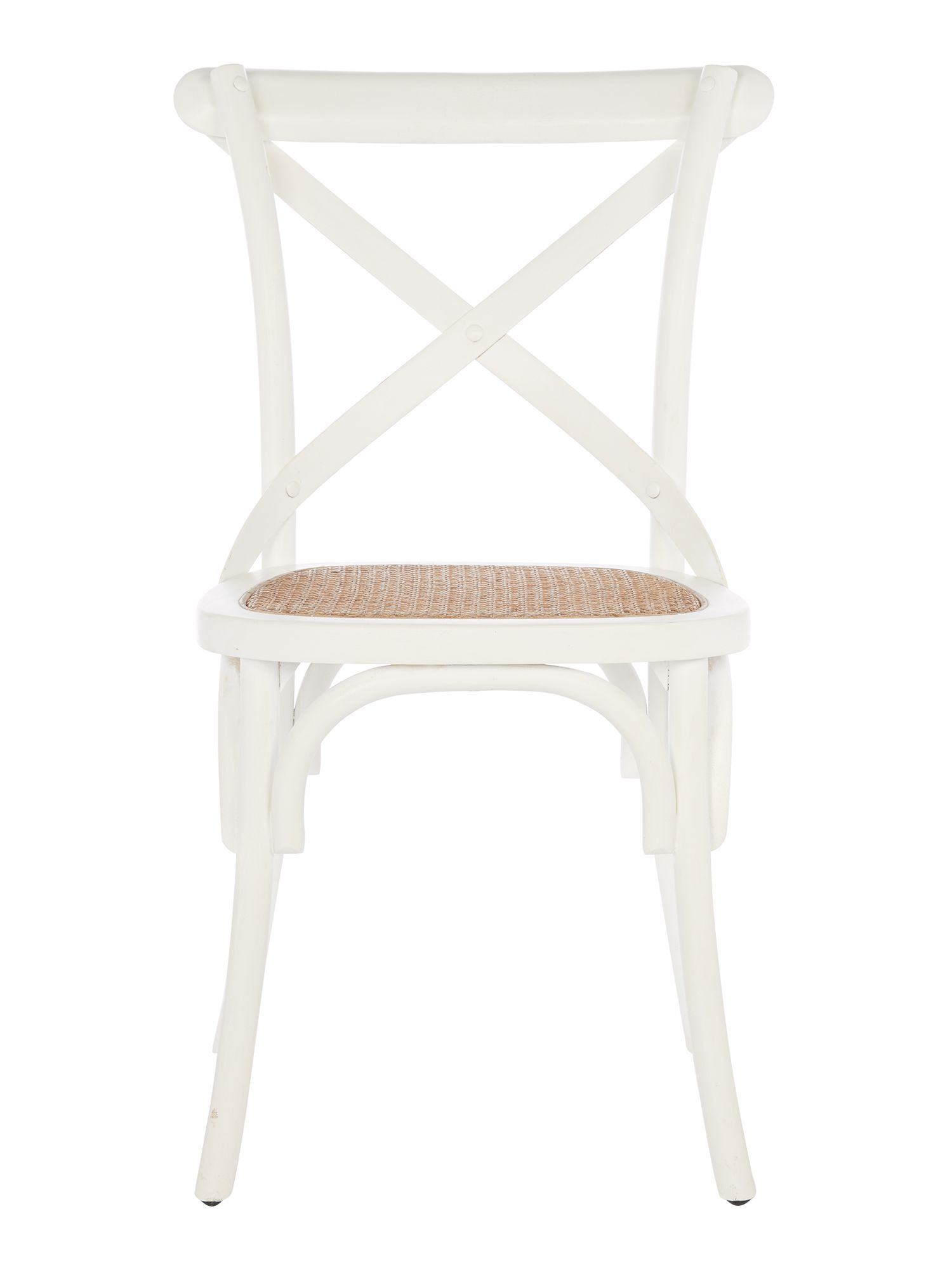 Cambridge natural & white chair (pair)