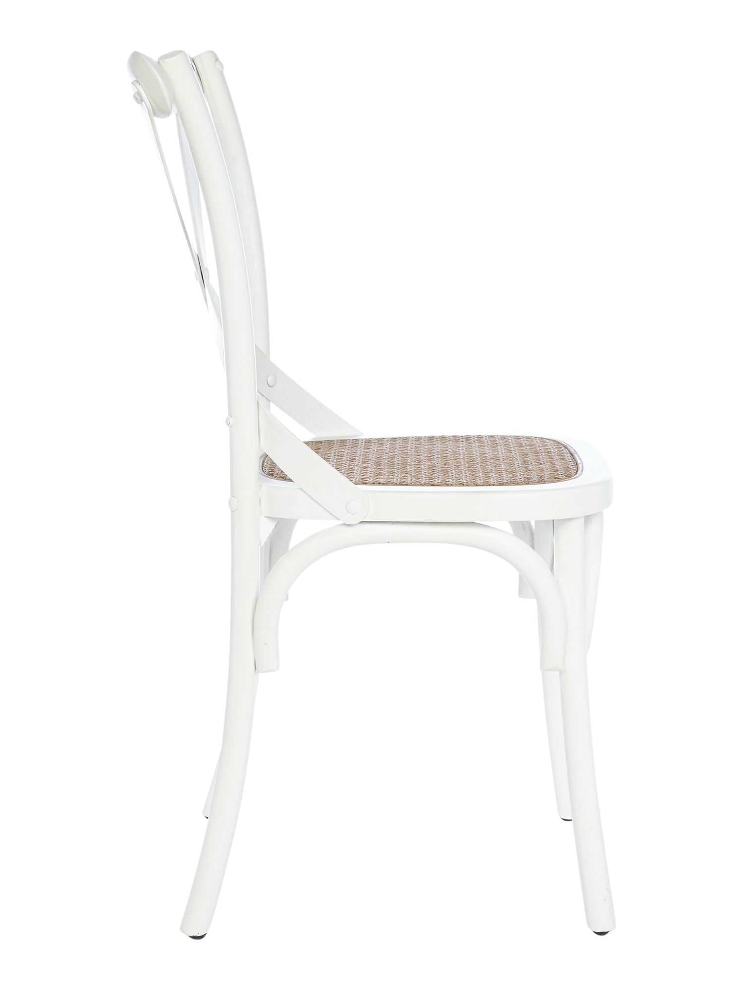 Bailey natural and white dining chair pair