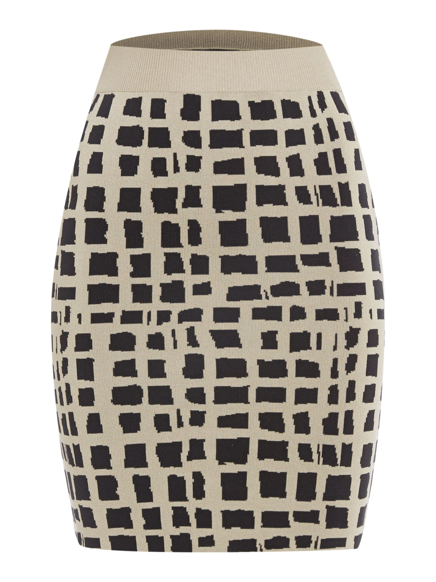 Jaquard stitch print skirt