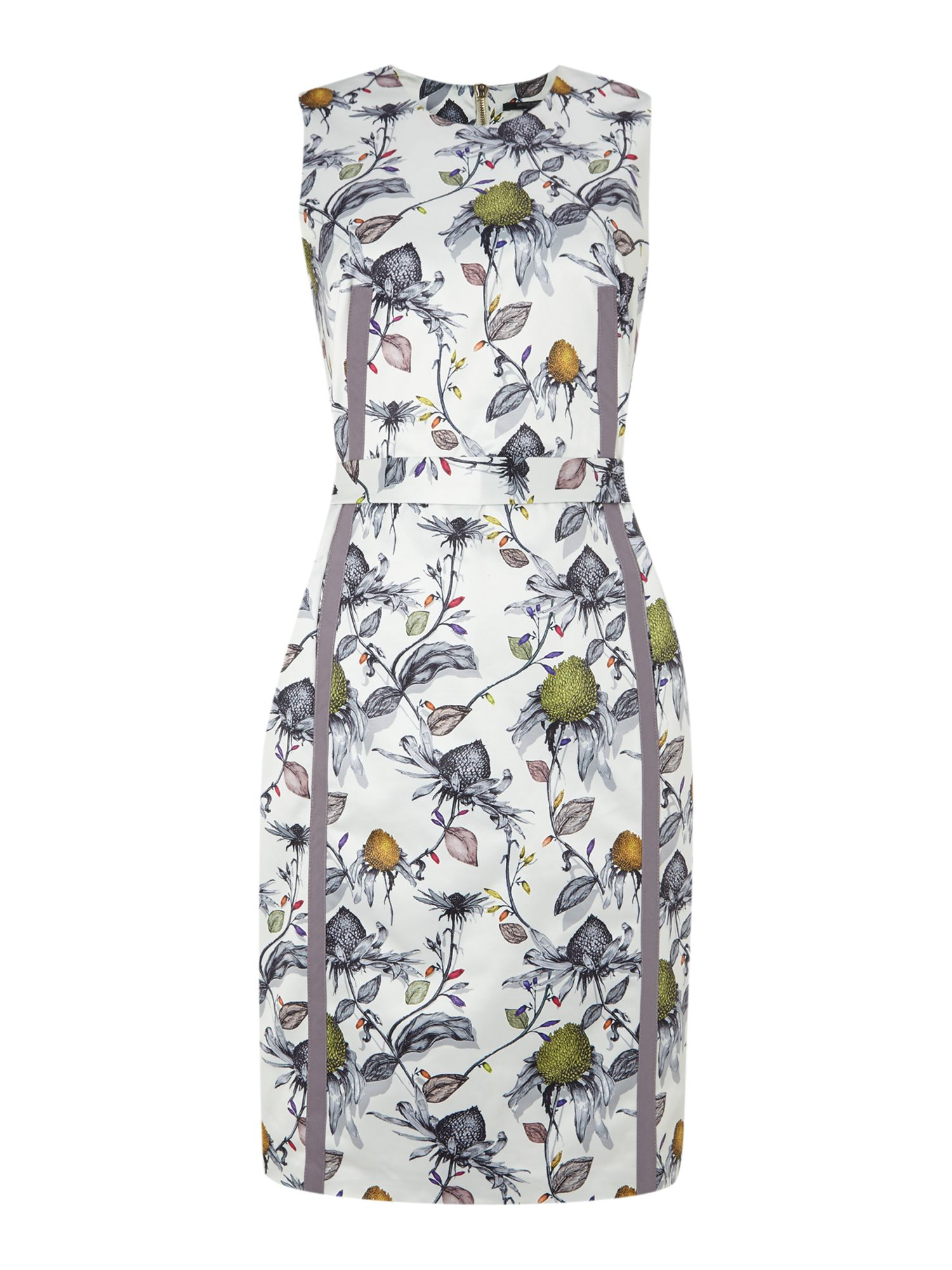 Sleevless digitial print dress
