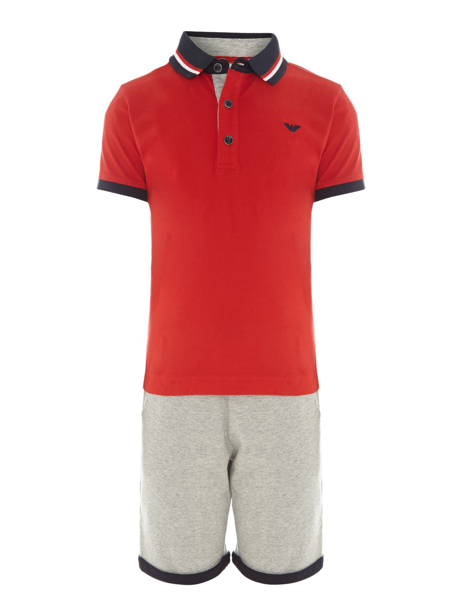 Boy`s polo and shorts set