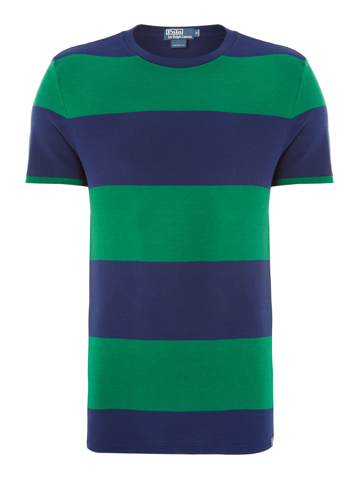 Block striped crew neck t-shirt