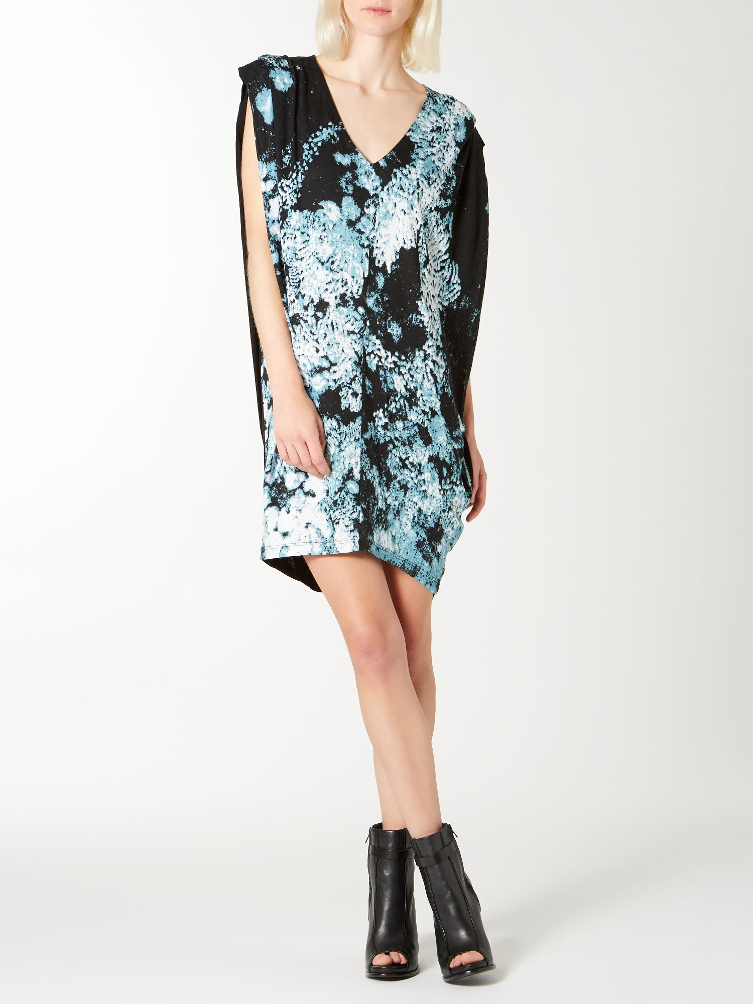 Moon print ovoid dress