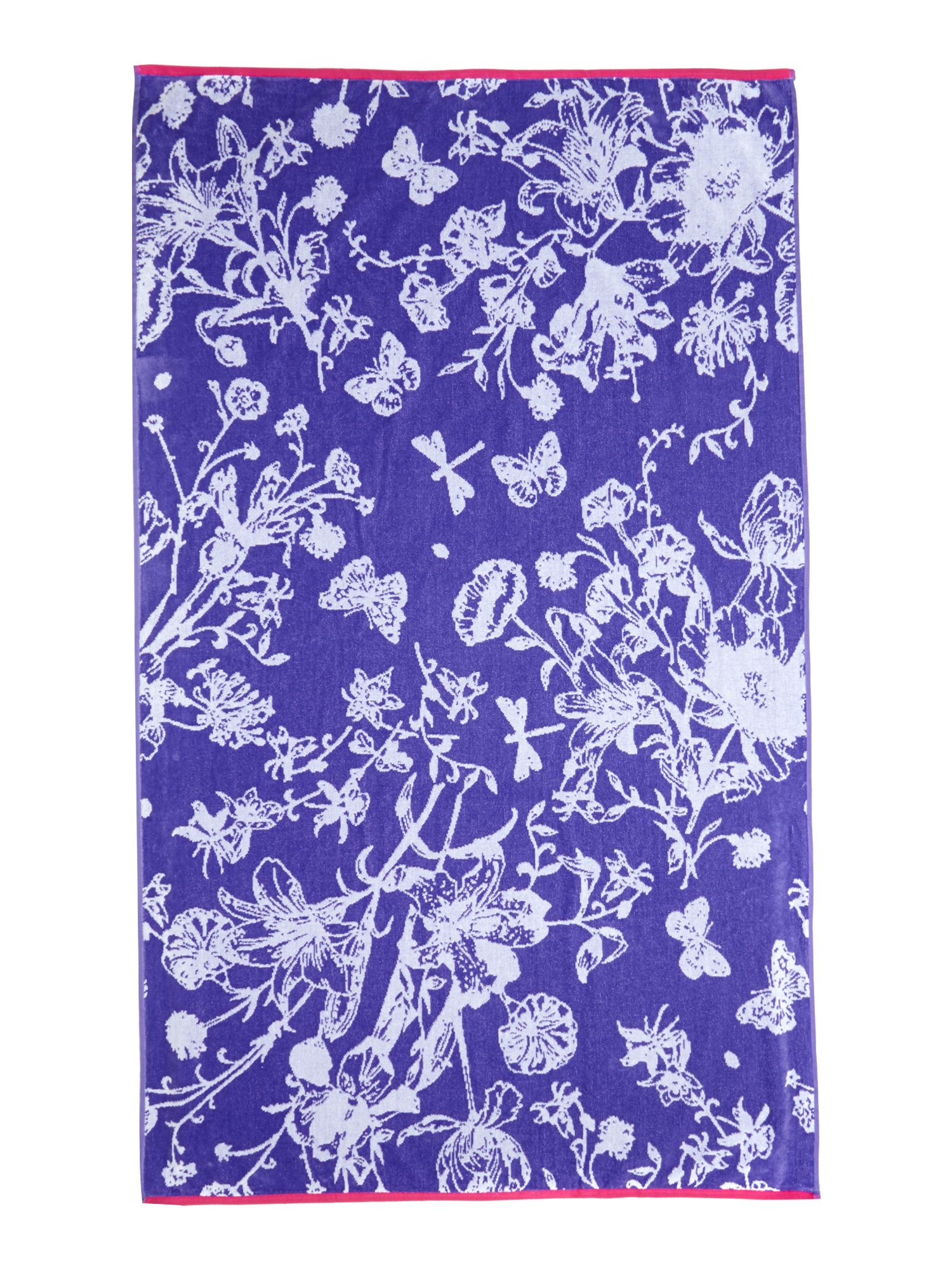Butterfly garden beach towel