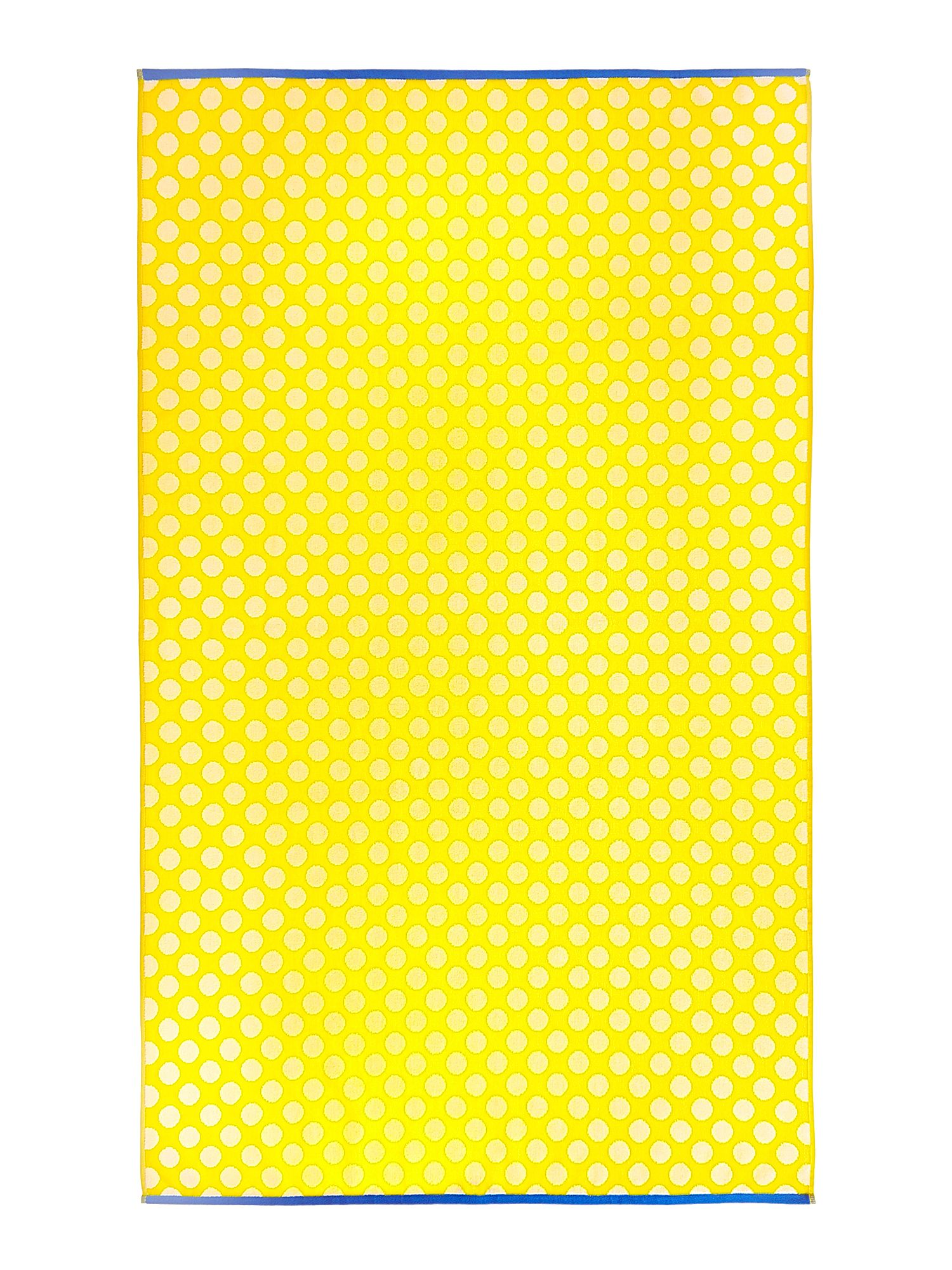 Yellow polka beach towel