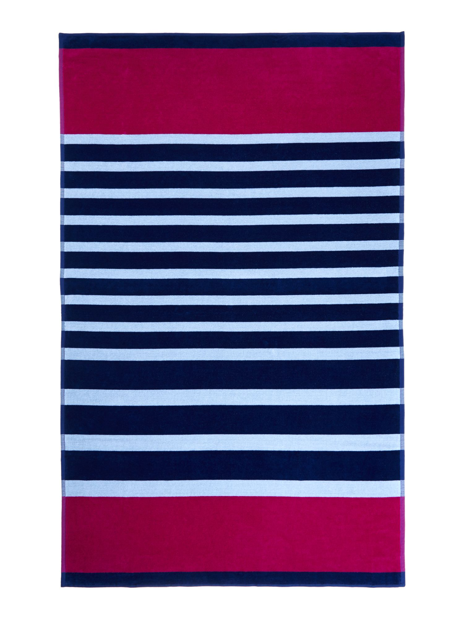 Colourblock stripe beach towel