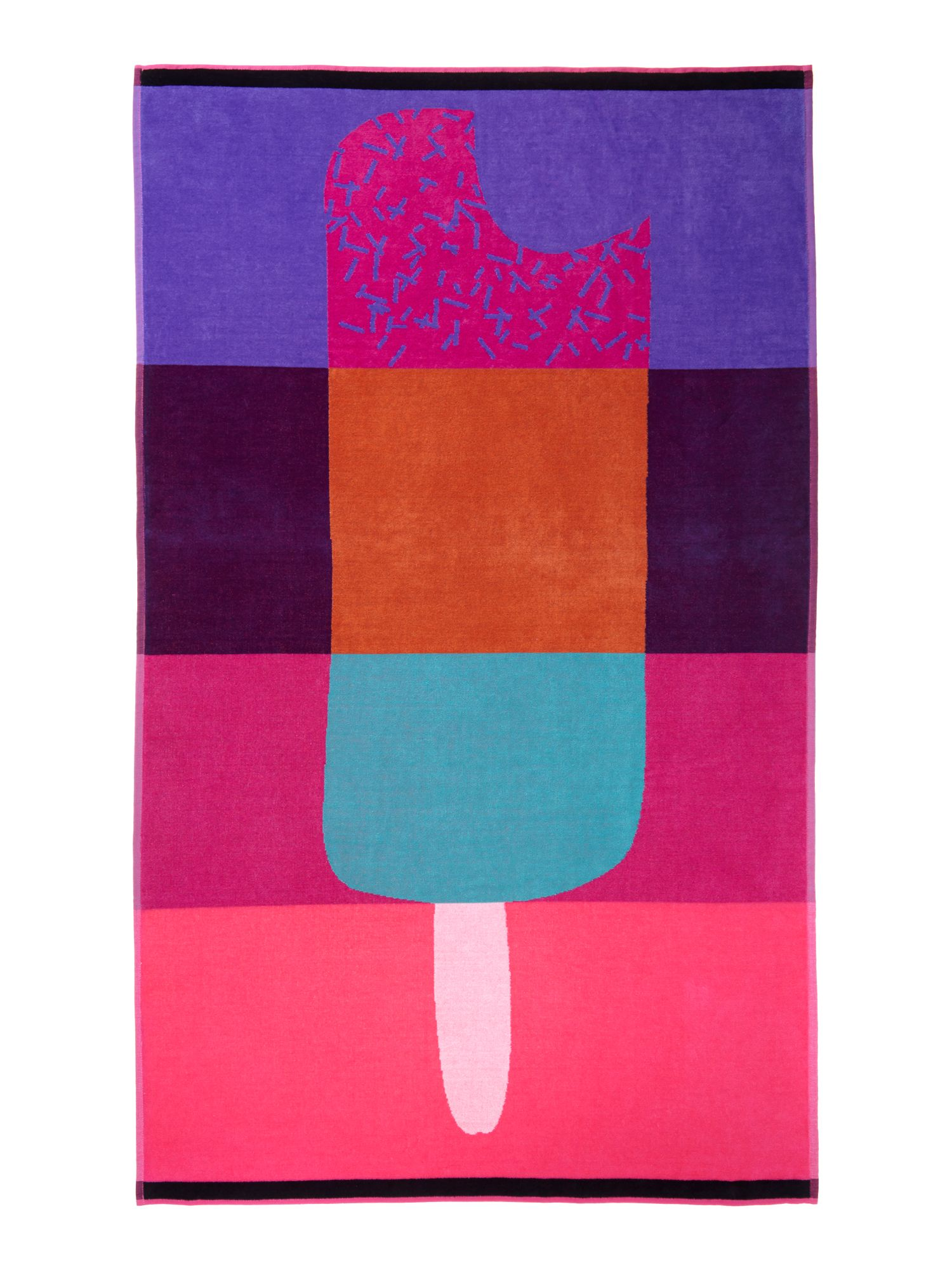 Ice lolly beach towel