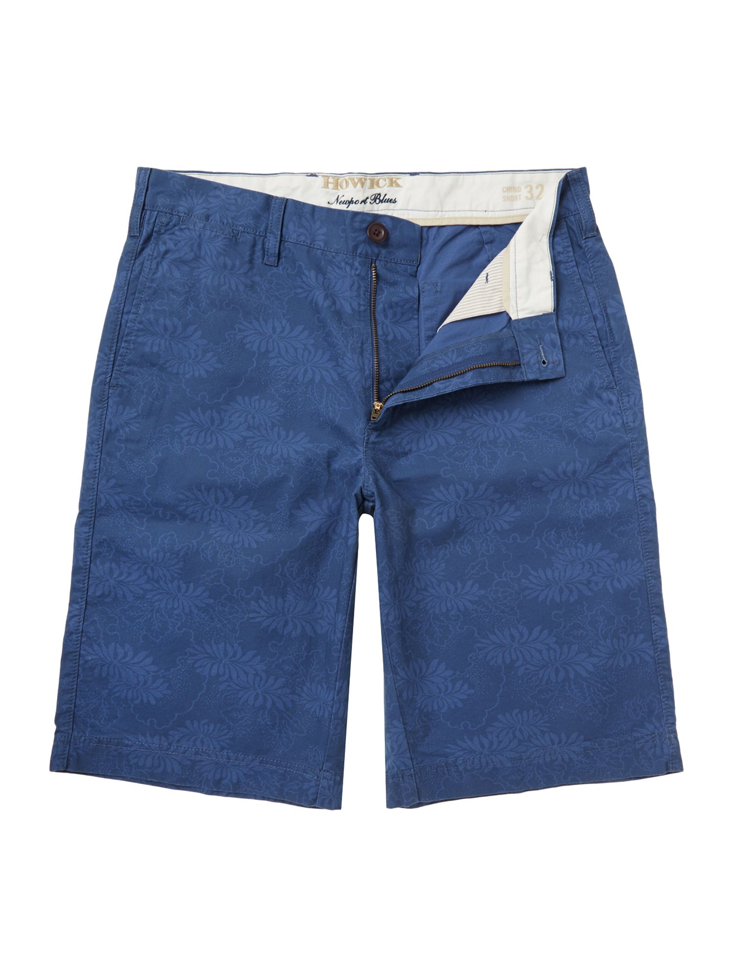 newport blues printed shorts