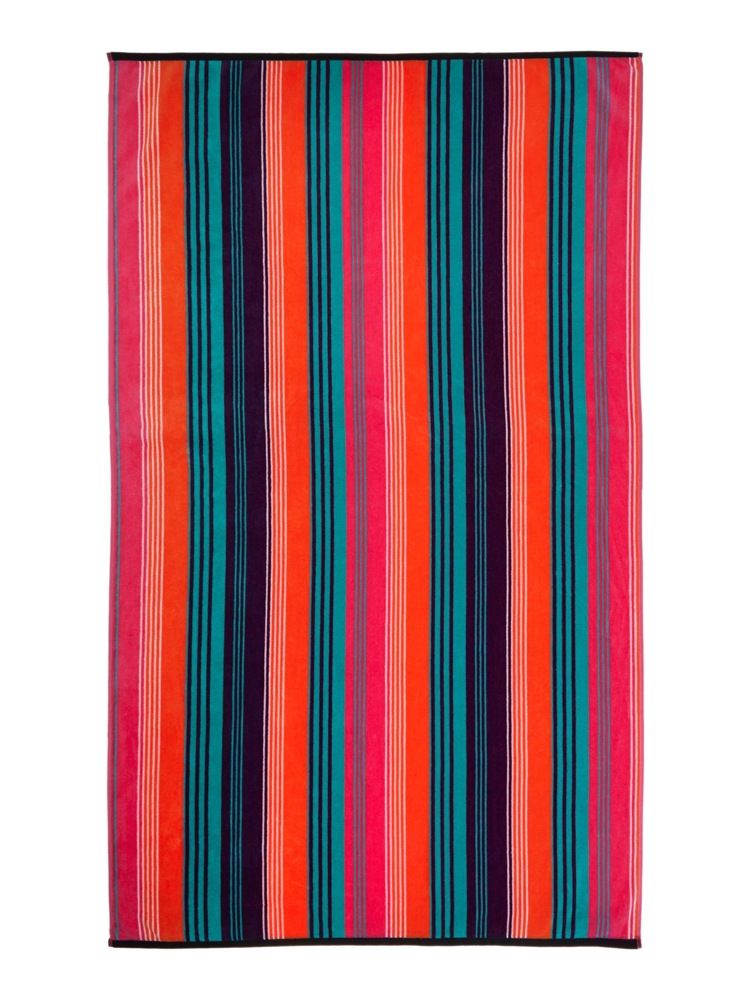 Lolly stripe beach towel