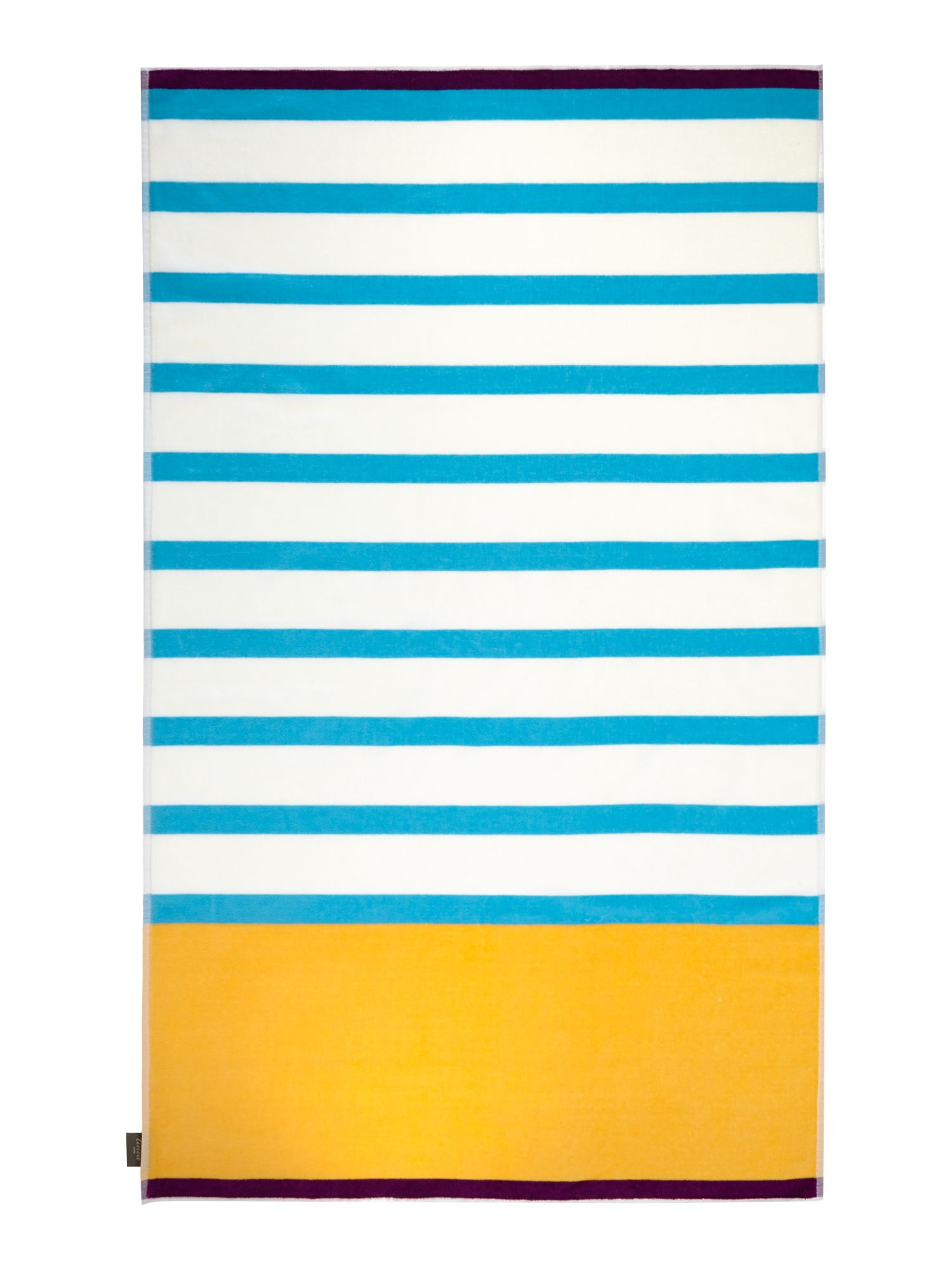 Neo geo blue stripe beach towel