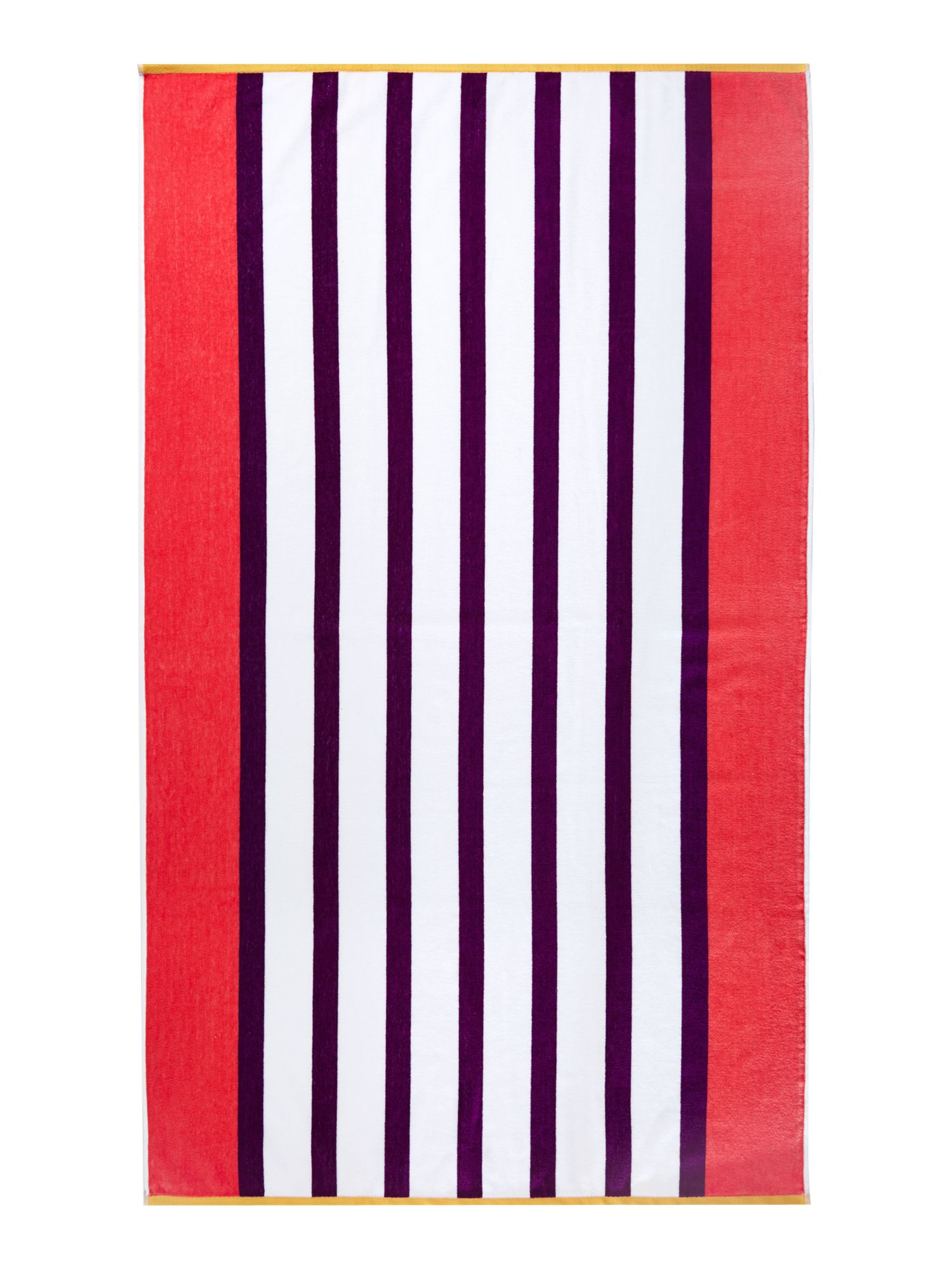 Neo geo purple stripe beach towel