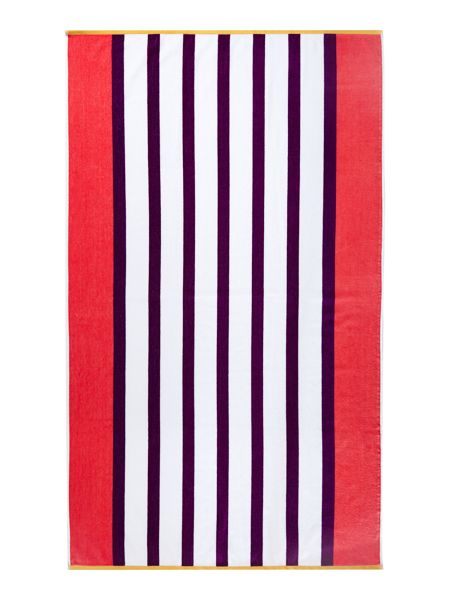 Linea Neo geo purple stripe beach towel