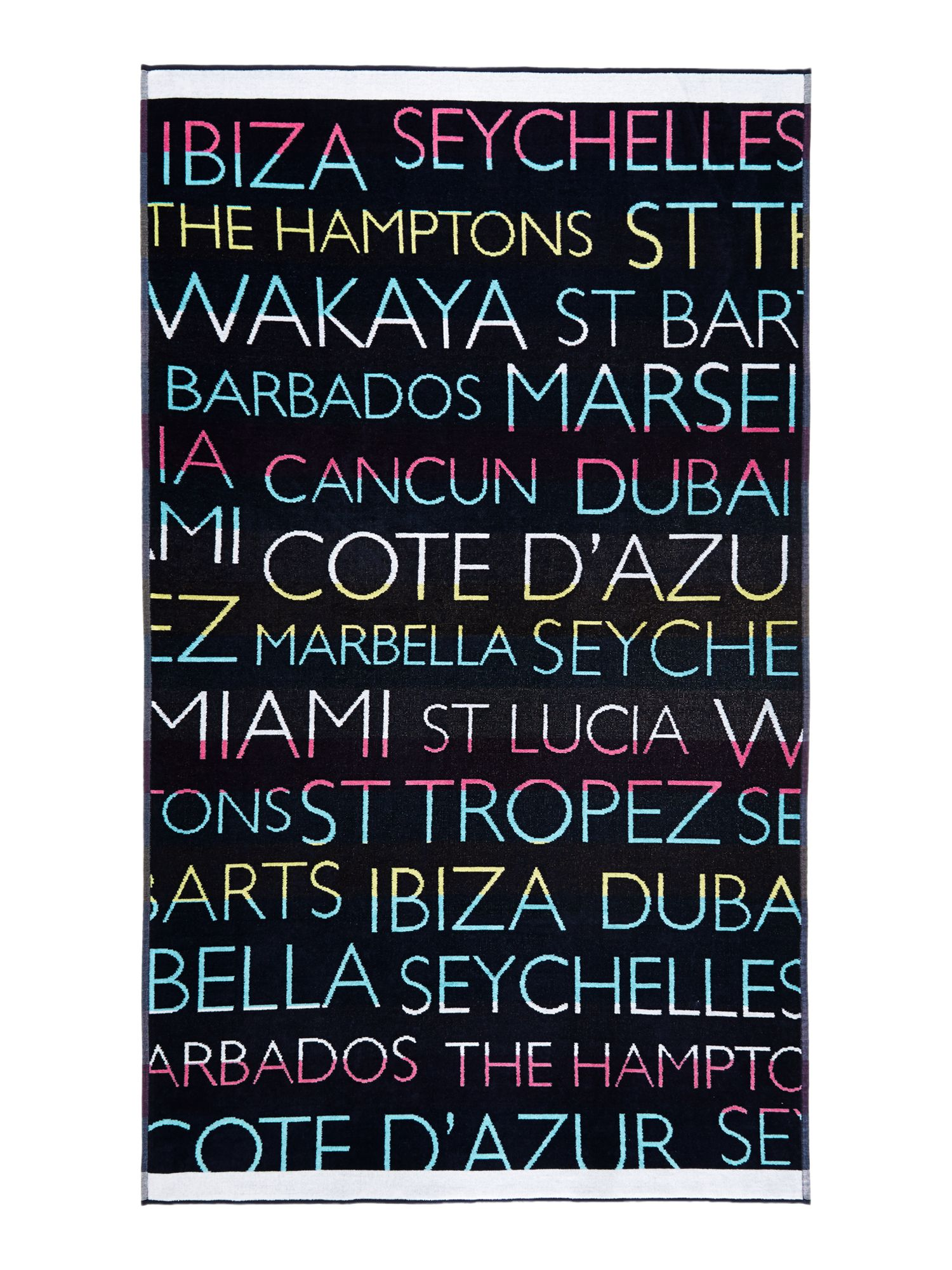 Holiday beach towel