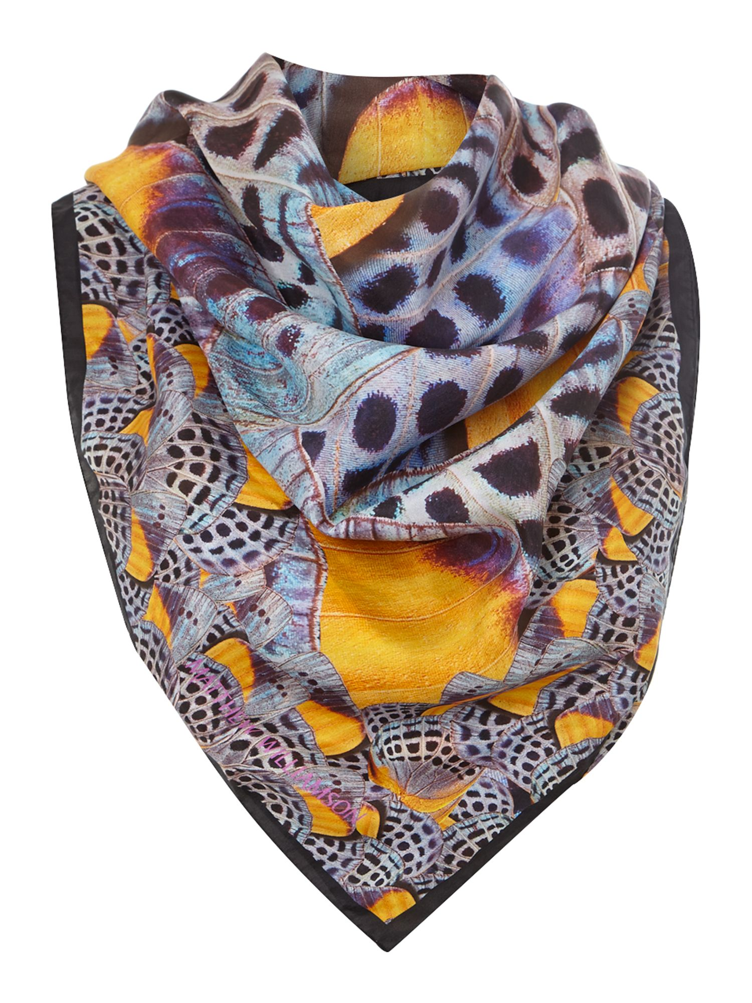 Wings silk square scarf