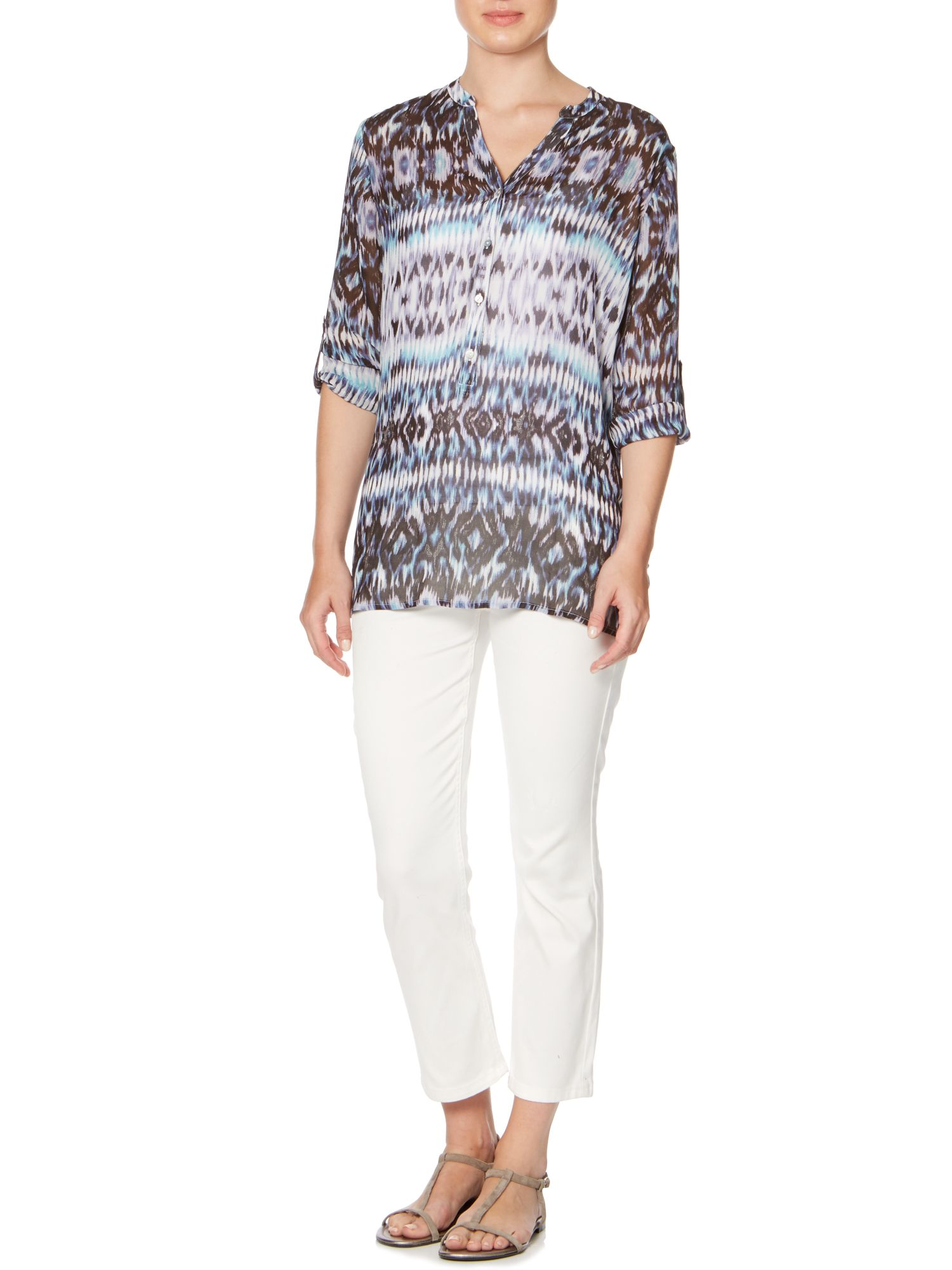 Aztec printed woven blouse