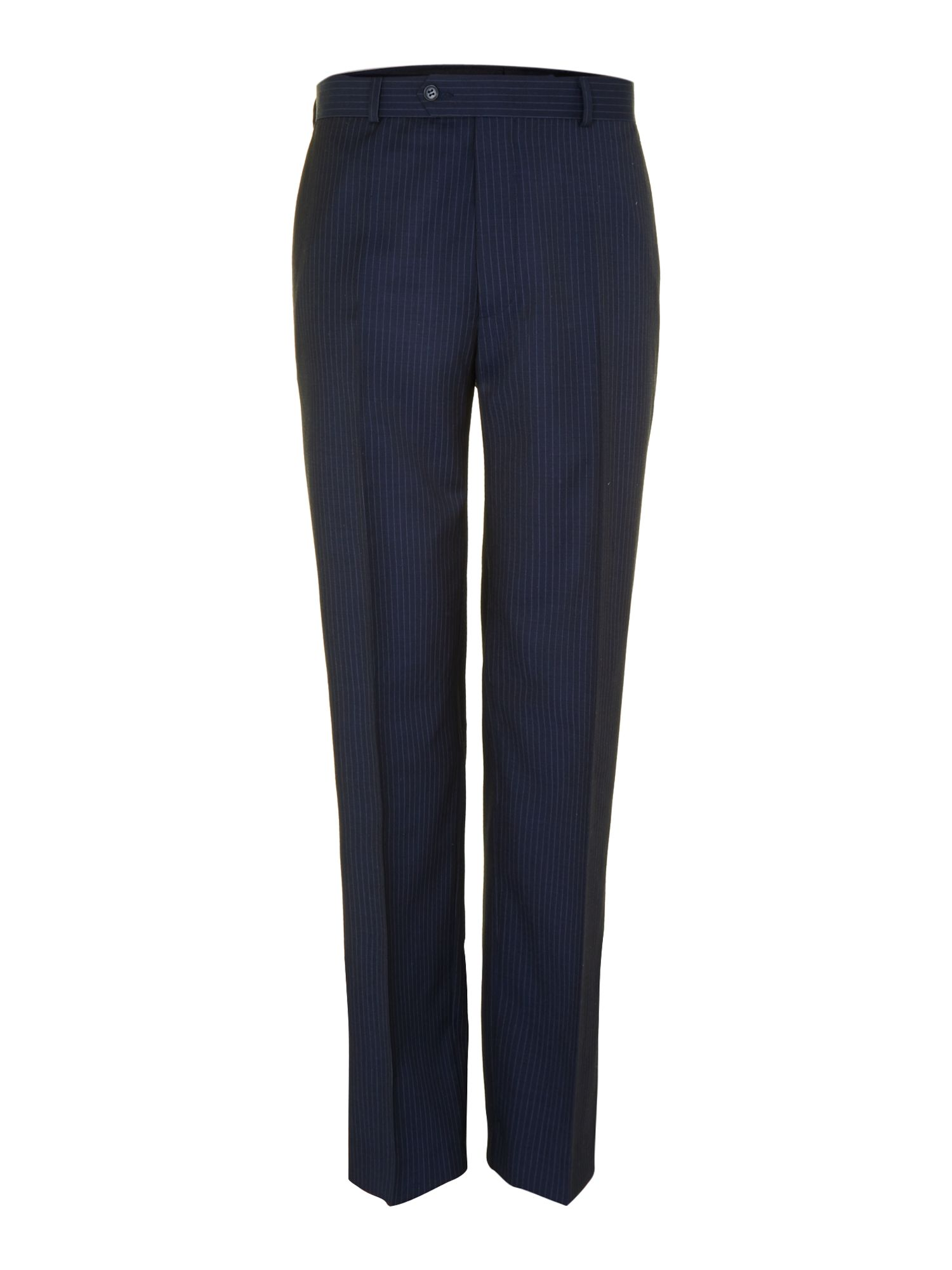 Navy stripe trousers