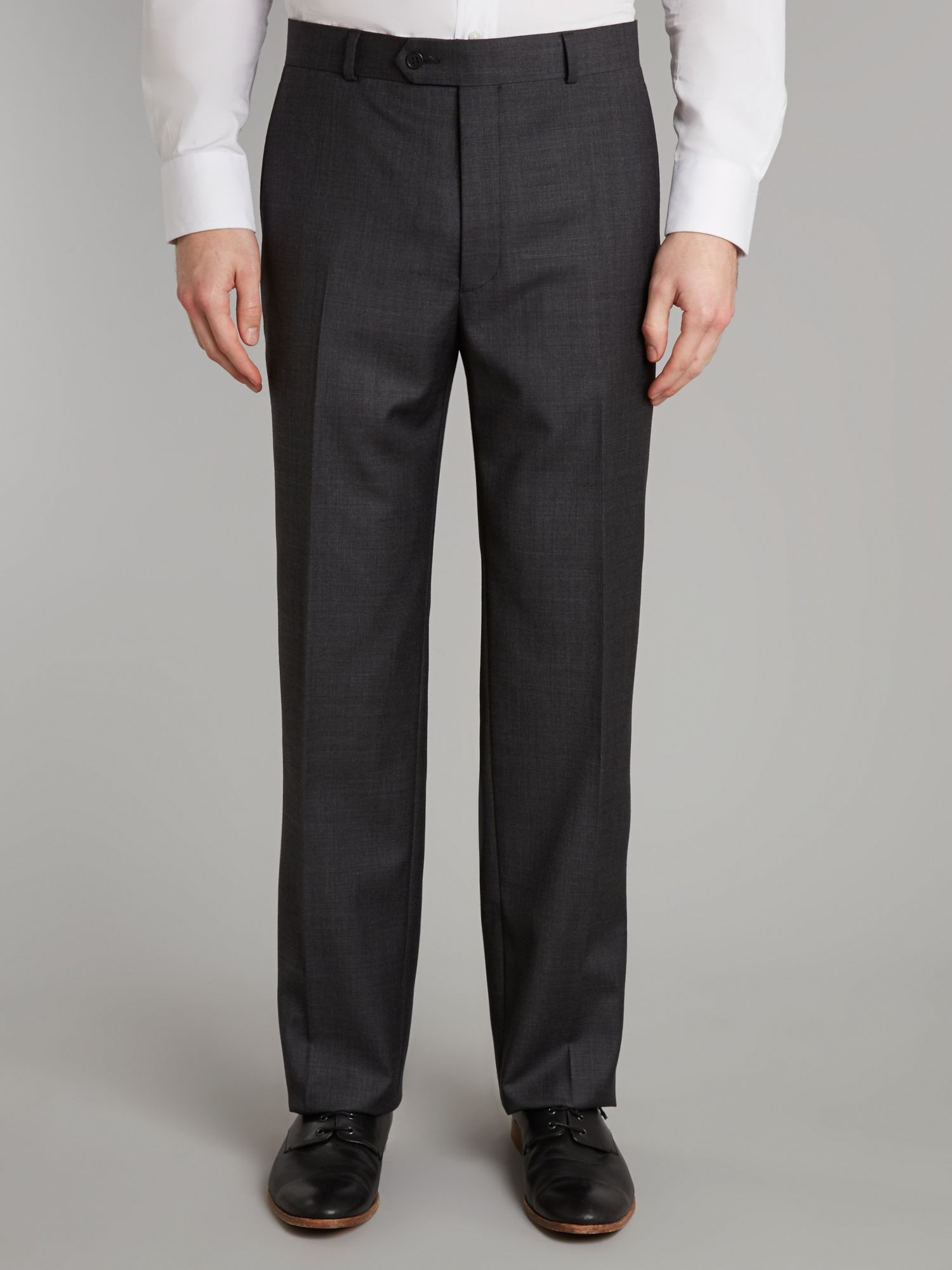 Charcoal sharkskin trousers