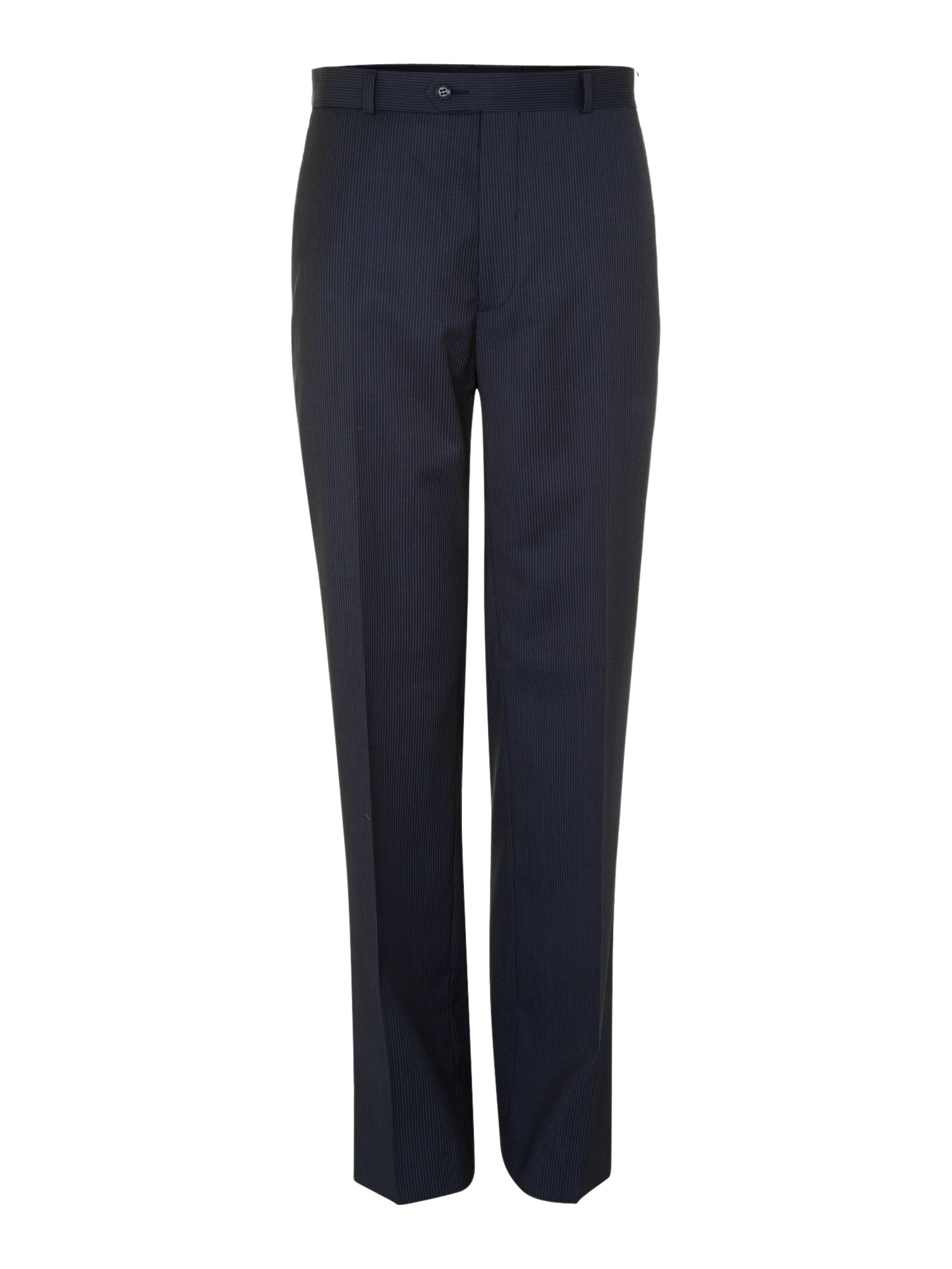 Dark grey fine stripe trousers