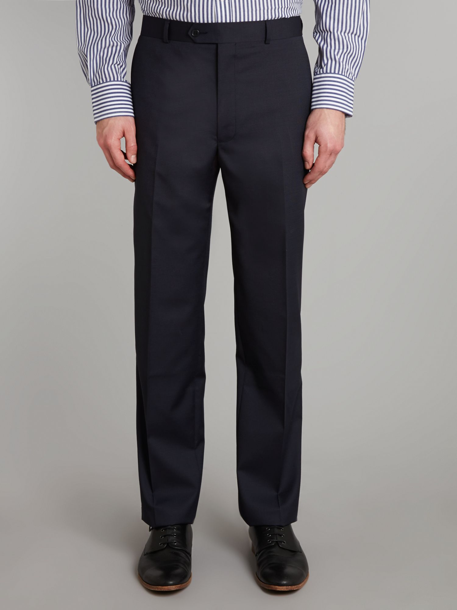 Navy pindot trousers