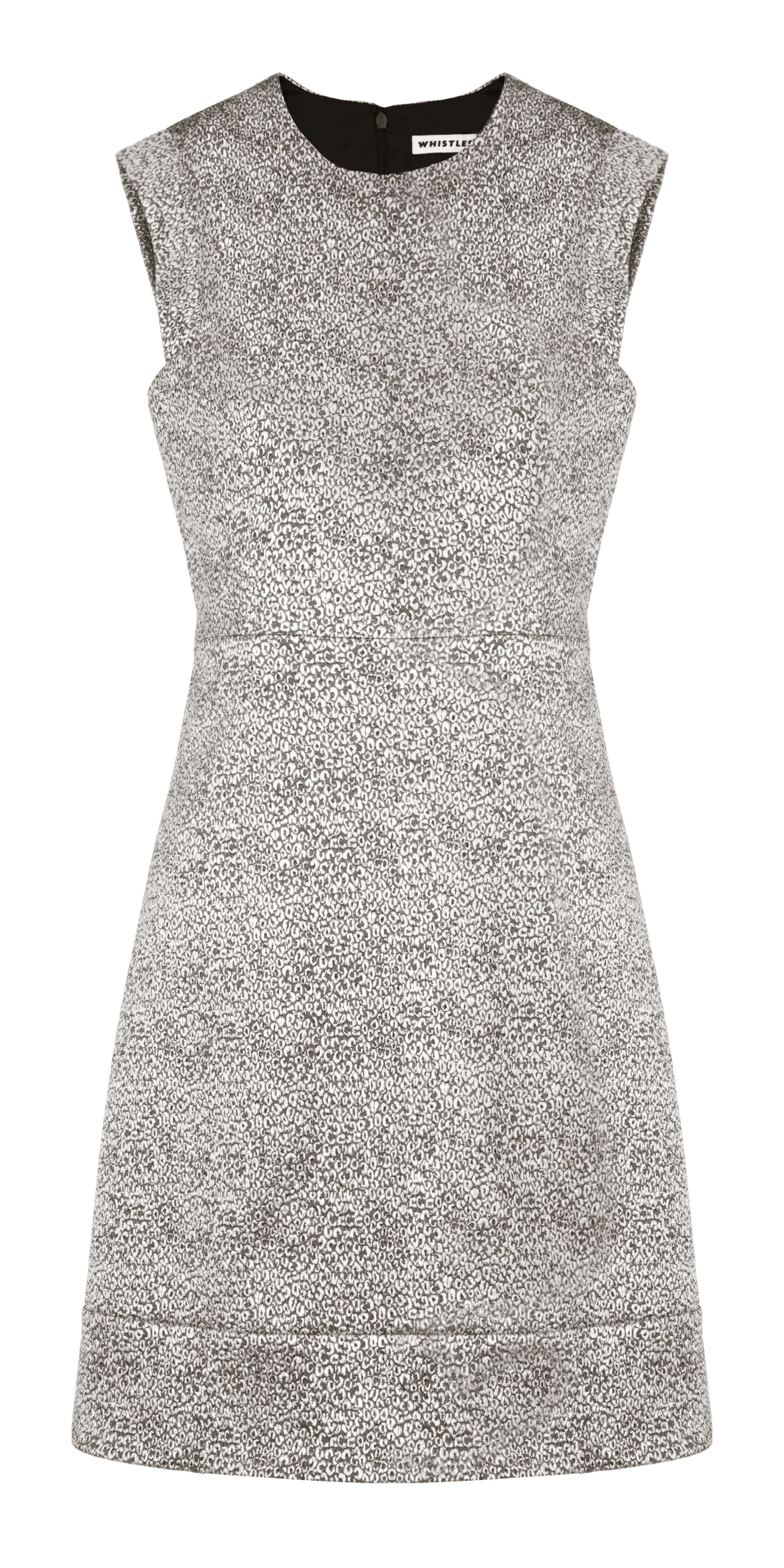 Lili metallic jacquard dress
