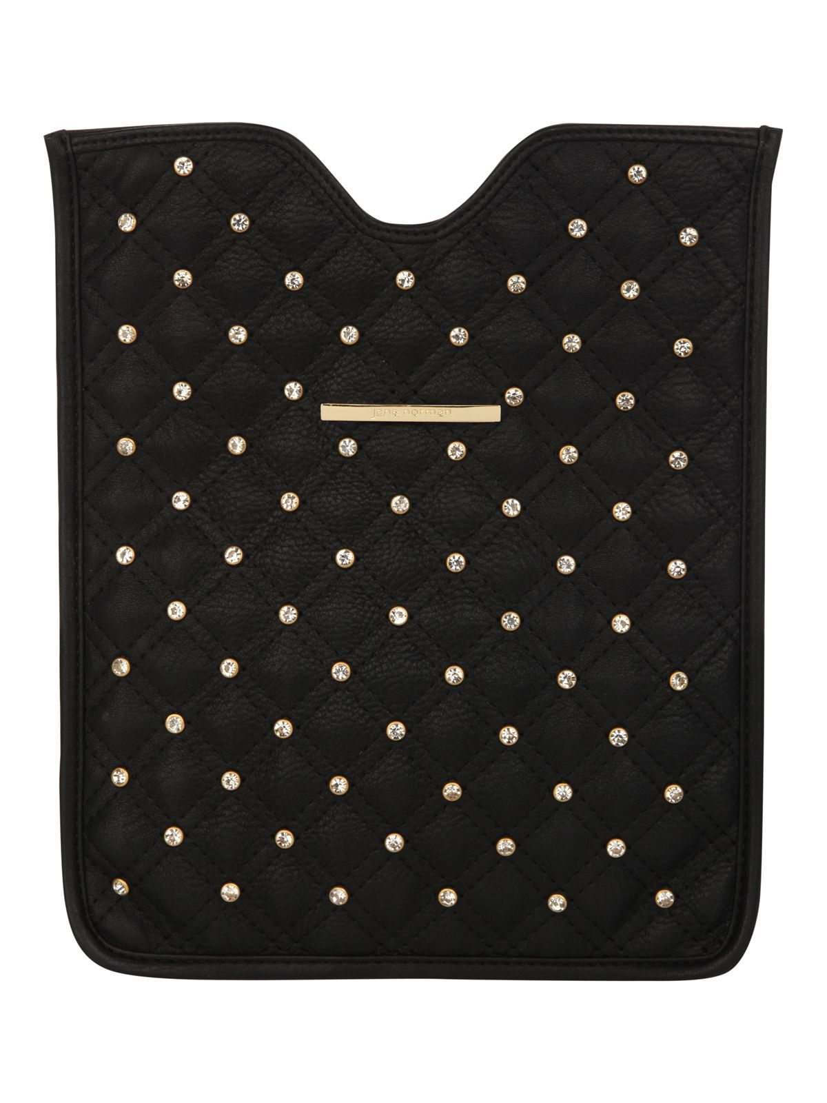 Quilted diamante tablet case