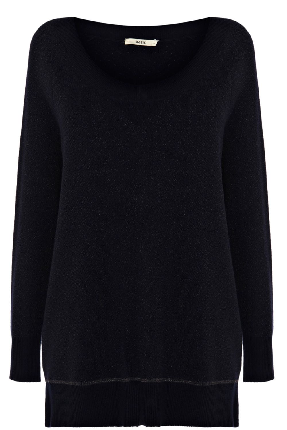 Longerline sweat jumper