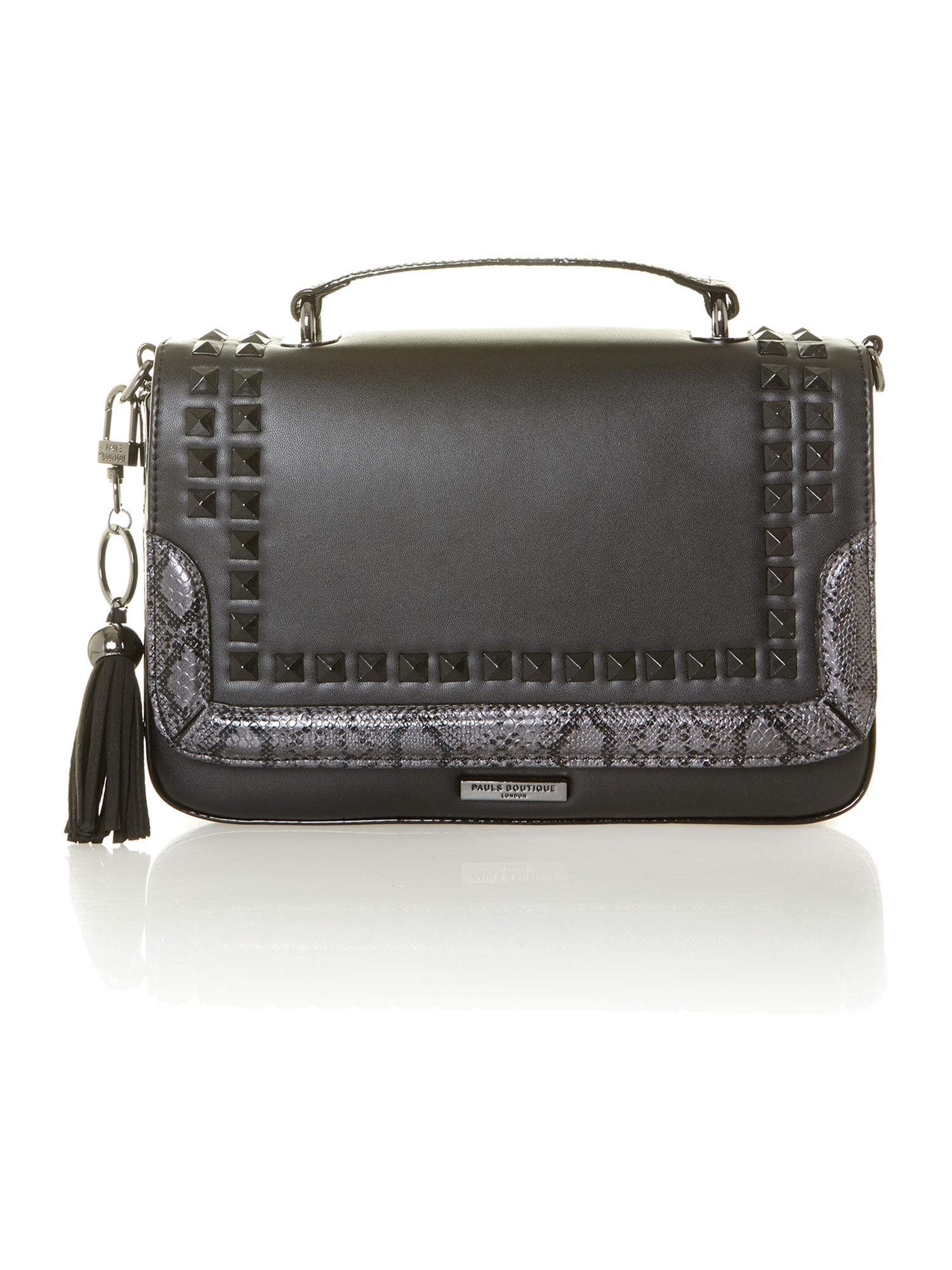 Nicole tonal stud detail shoulder bag