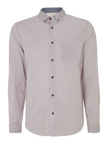 Drake polka dot stripe long sleeved shirt