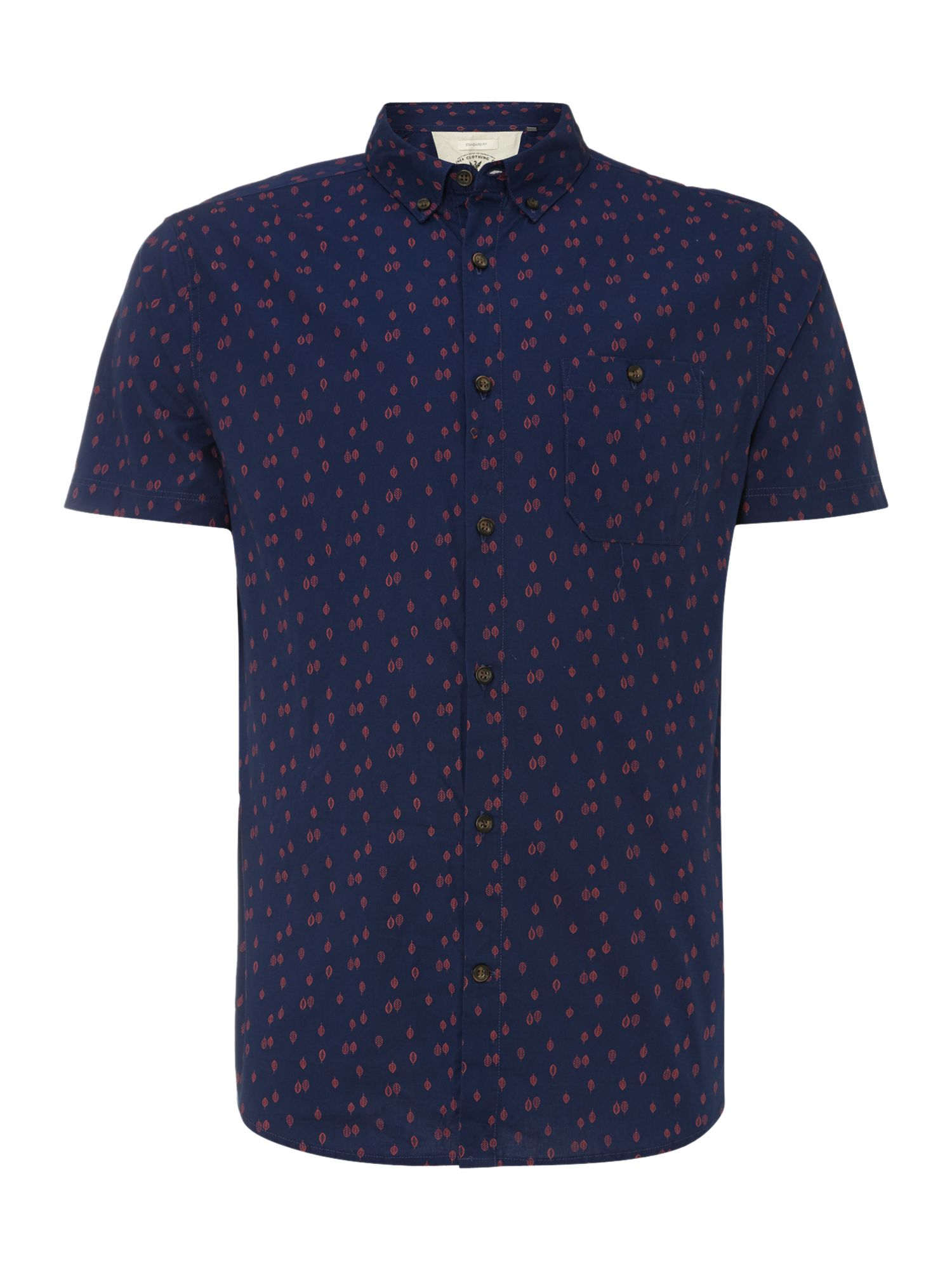 kramer leaf print short sleeved shirt