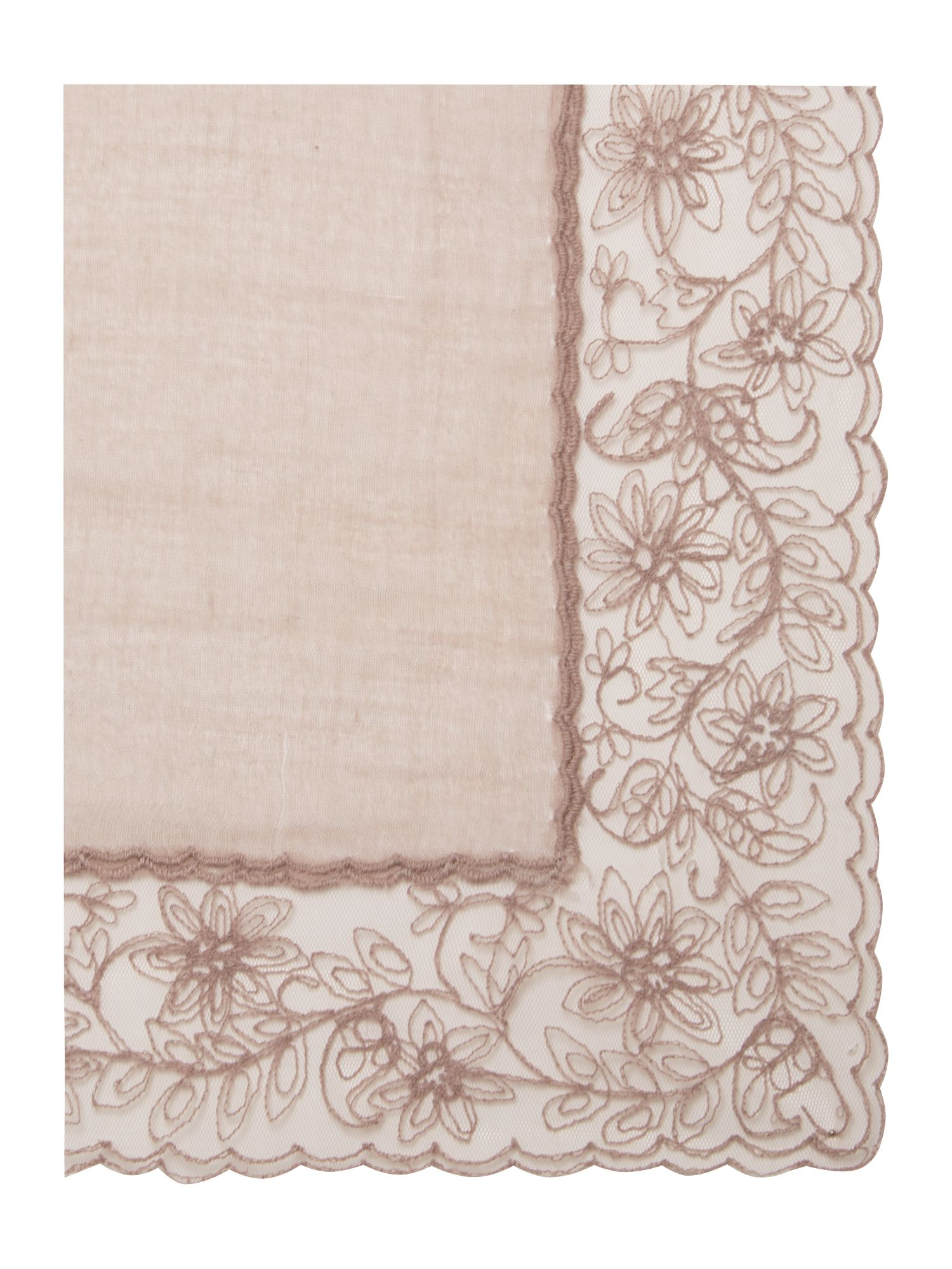 Vocio scarf with lace detail
