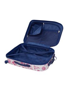 Spring butterfly floral 4 wheel hard cabin case